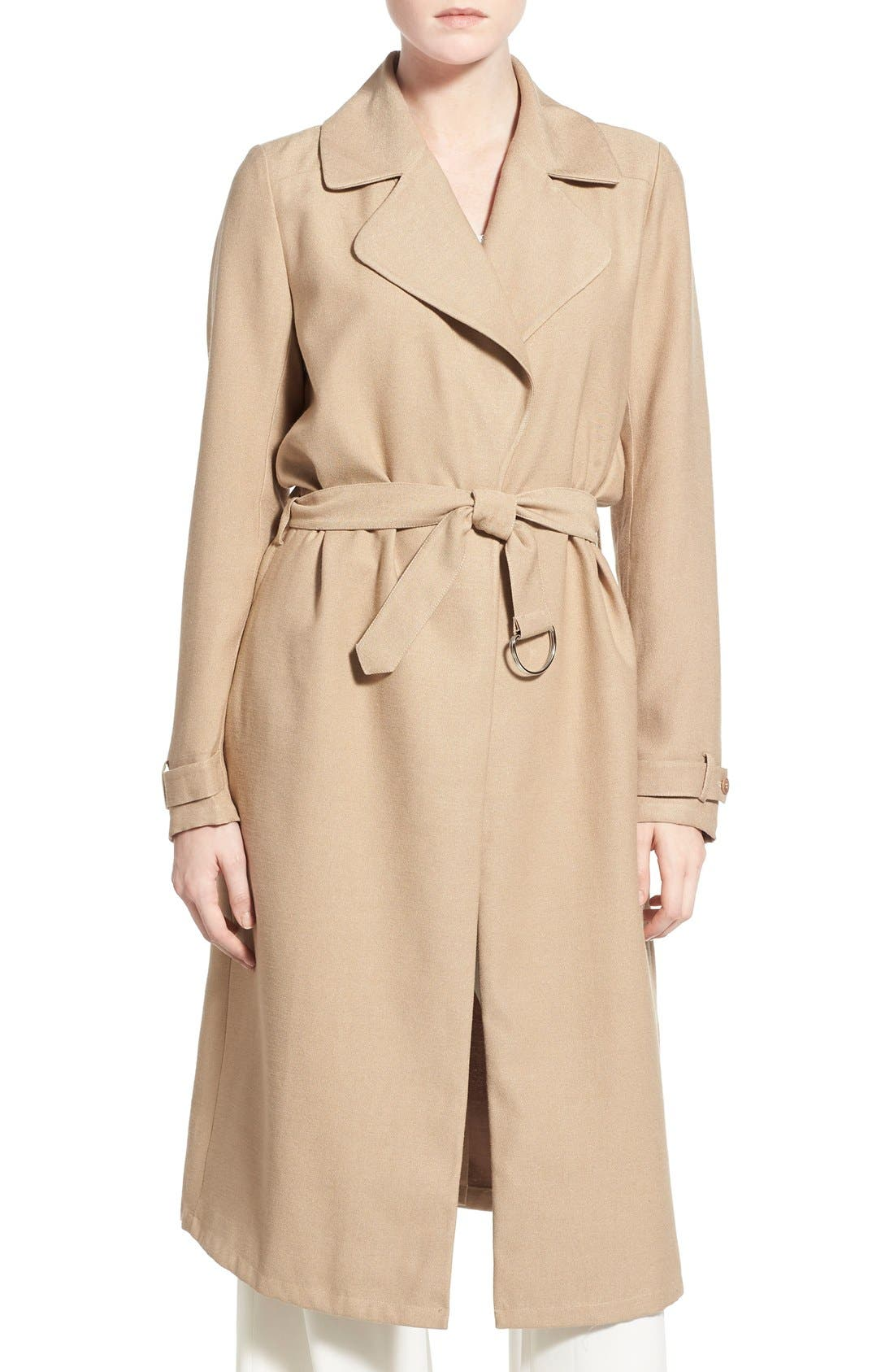 Alternate Image 4  - Chelsea28 Belted Crepe Trench Coat