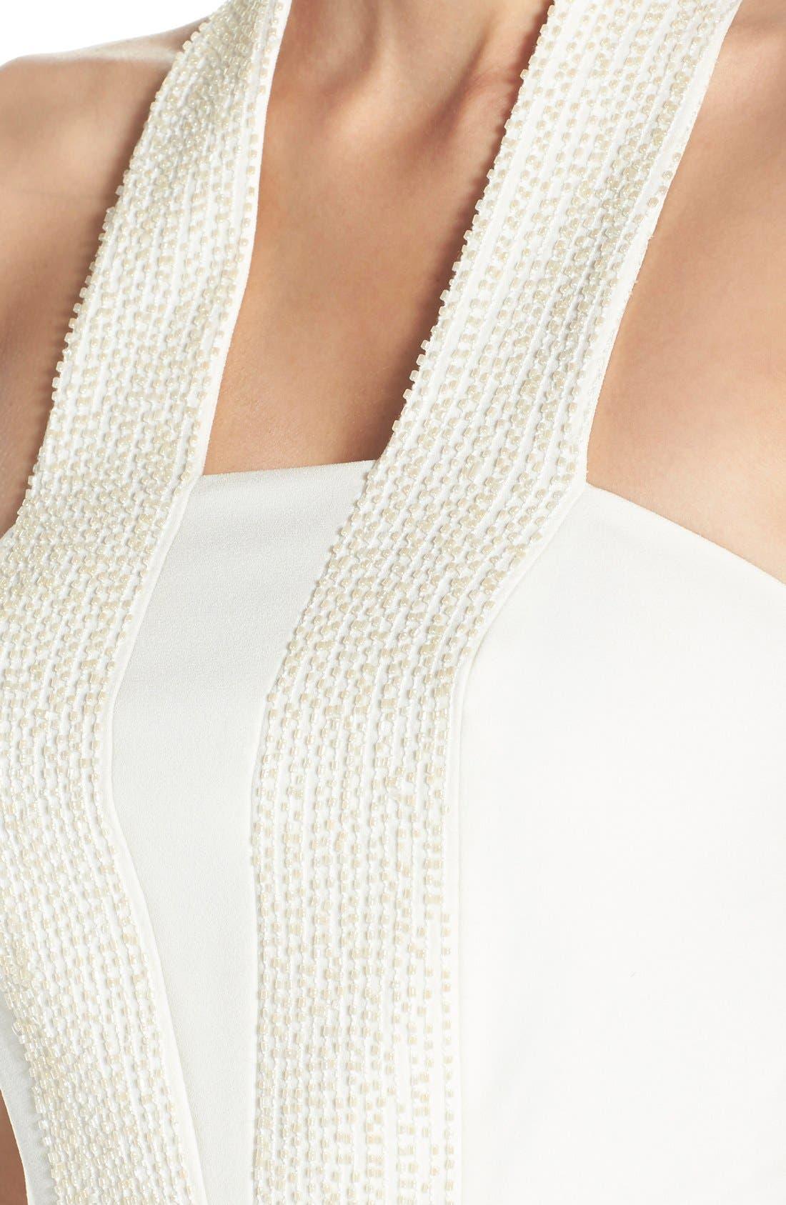 Alternate Image 5  - Halston Heritage Embellished Halter Dress