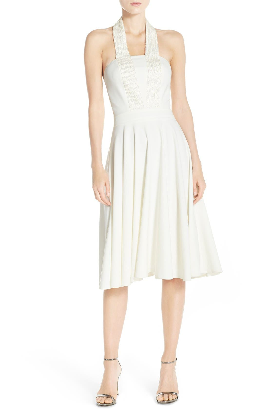 Alternate Image 4  - Halston Heritage Embellished Halter Dress