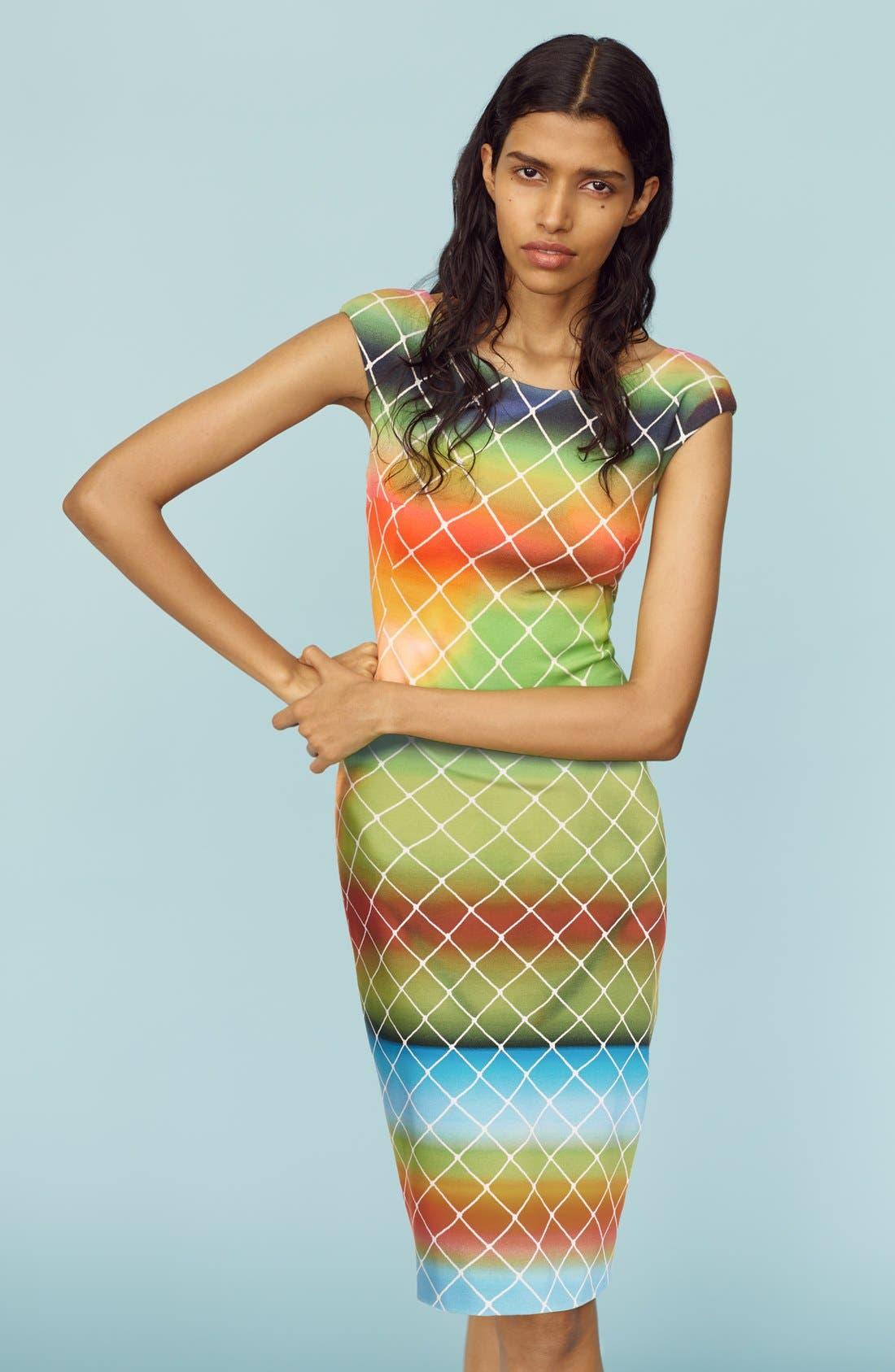 Alternate Image 7  - Akris punto 'Baseball Net' Dress