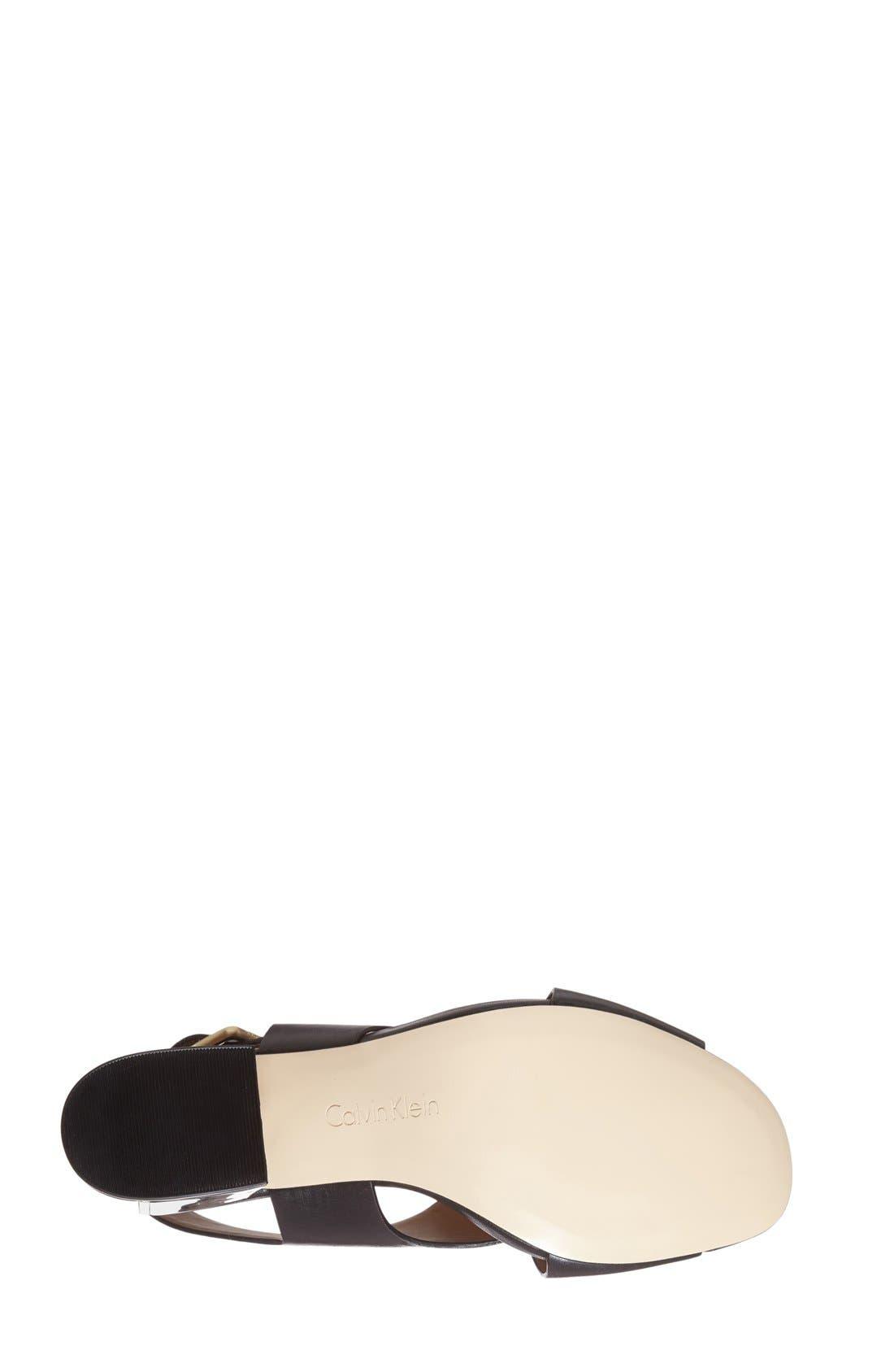 Alternate Image 4  - Calvin Klein 'Loni' Clear Block Heel Sandal (Women)