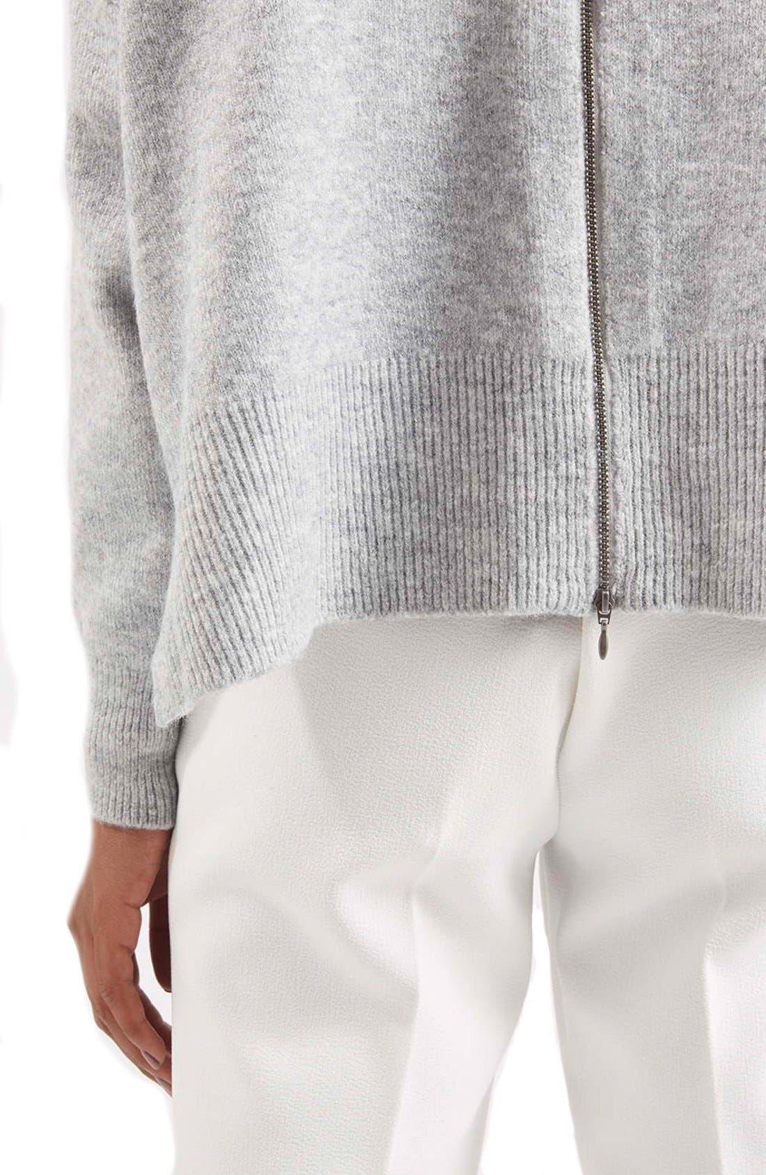 Alternate Image 5  - TopshopBack Zip Turtleneck Sweater