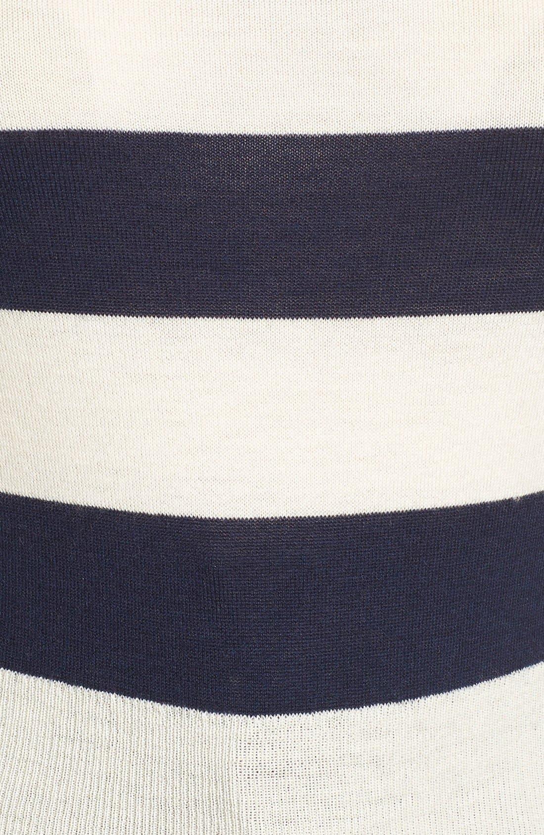 Alternate Image 4  - Olivia Palermo + Chelsea28 Stripe Wool & Cashmere Pullover