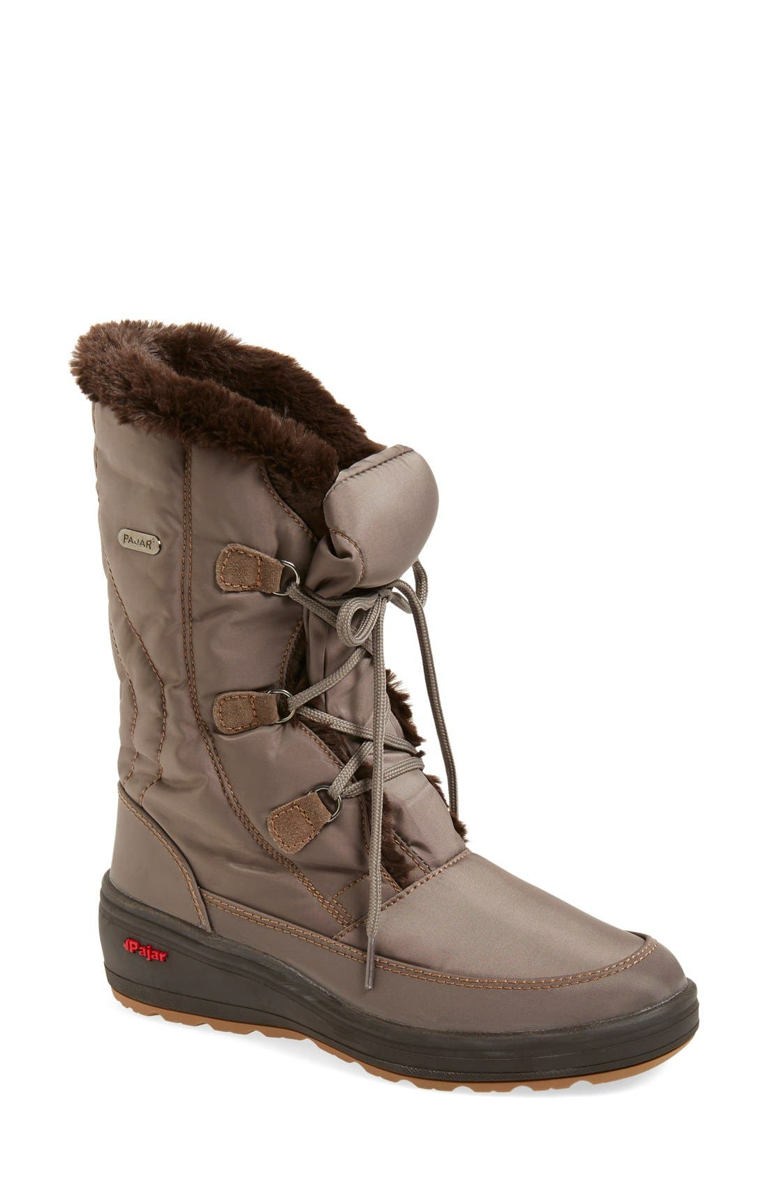 Pajar 'Marcie' Waterproof Snow Boot with Faux Fur Collar (Women)