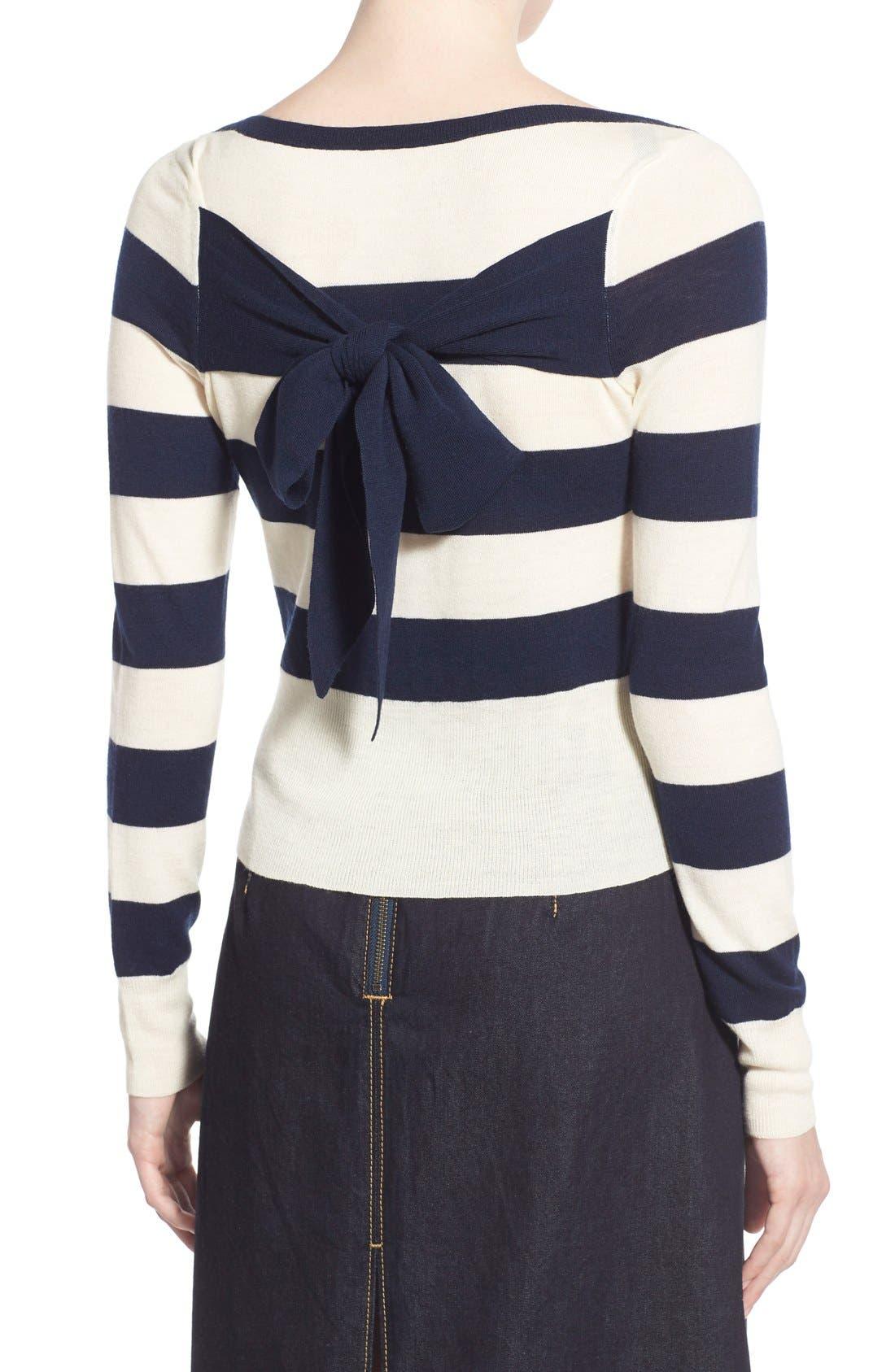 Alternate Image 2  - Olivia Palermo + Chelsea28 Stripe Wool & Cashmere Pullover