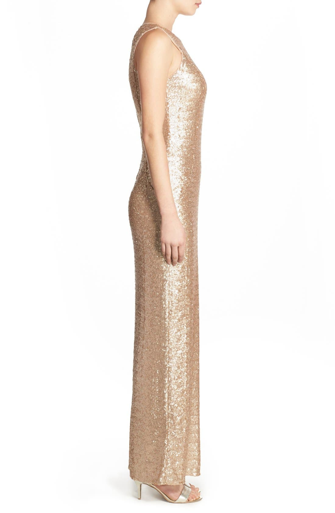 Alternate Image 3  - Love, Nickie Lew Sequin Sleeveless Gown