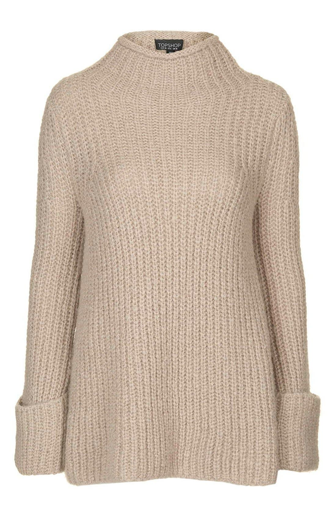 Alternate Image 4  - Topshop 'Jumbo' Funnel Neck Sweater