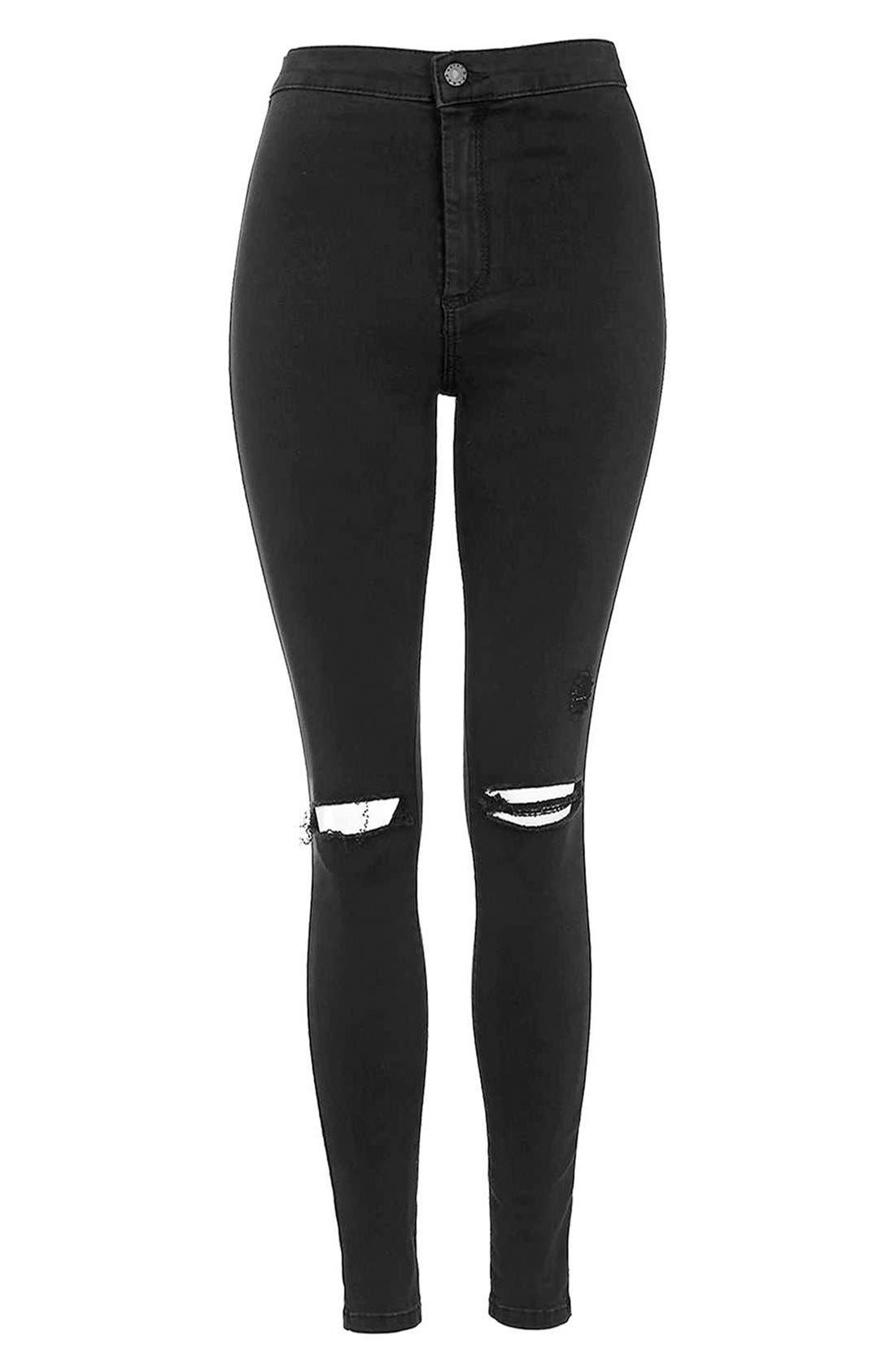 Alternate Image 4  - Topshop Moto 'Joni' Ripped Skinny Jeans (Petite)
