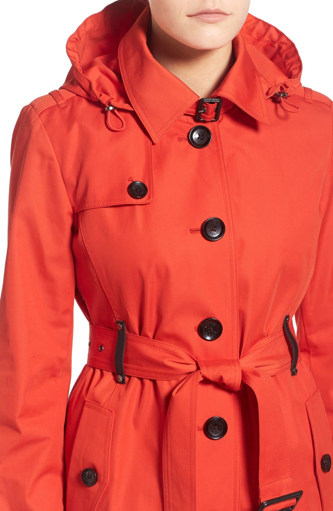 Alternate Image 4  - MICHAEL Michael Kors Single Breasted Raincoat (Regular & Petite)