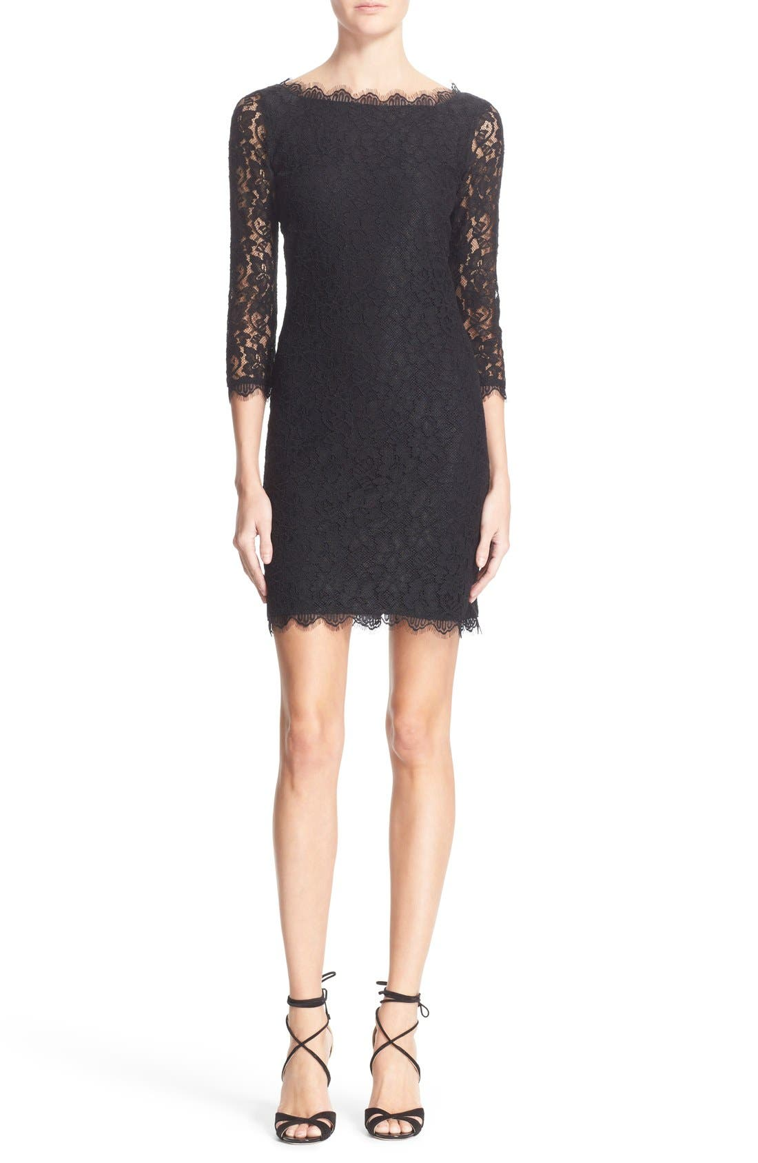 Main Image - Diane von Furstenberg 'Zarita' Lace Sheath Dress