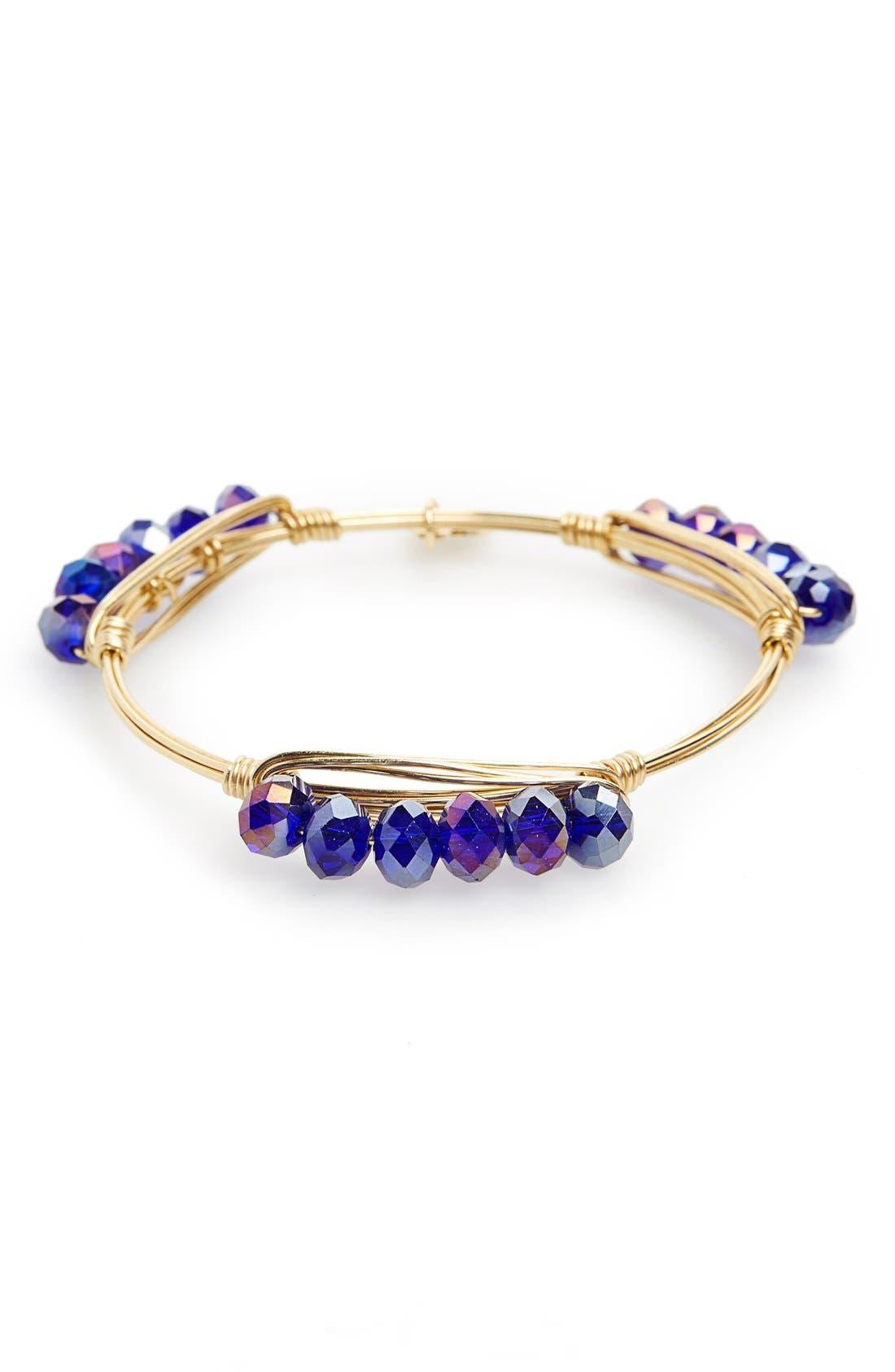 Alternate Image 1 Selected - Bourbon and Boweties 'Millie' Crystal Bracelet