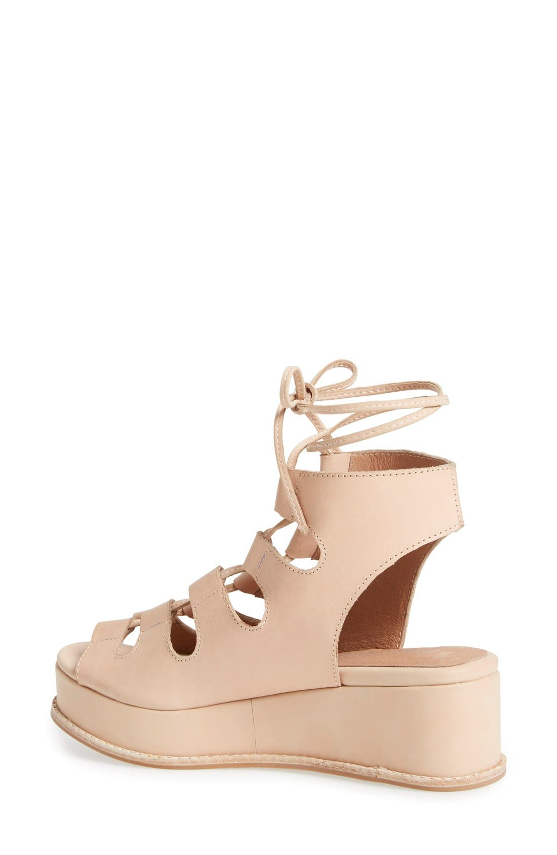 Alternate Image 2  - Jeffrey Campbell 'Ximeno' Platform Ghillie Sandal (Women)