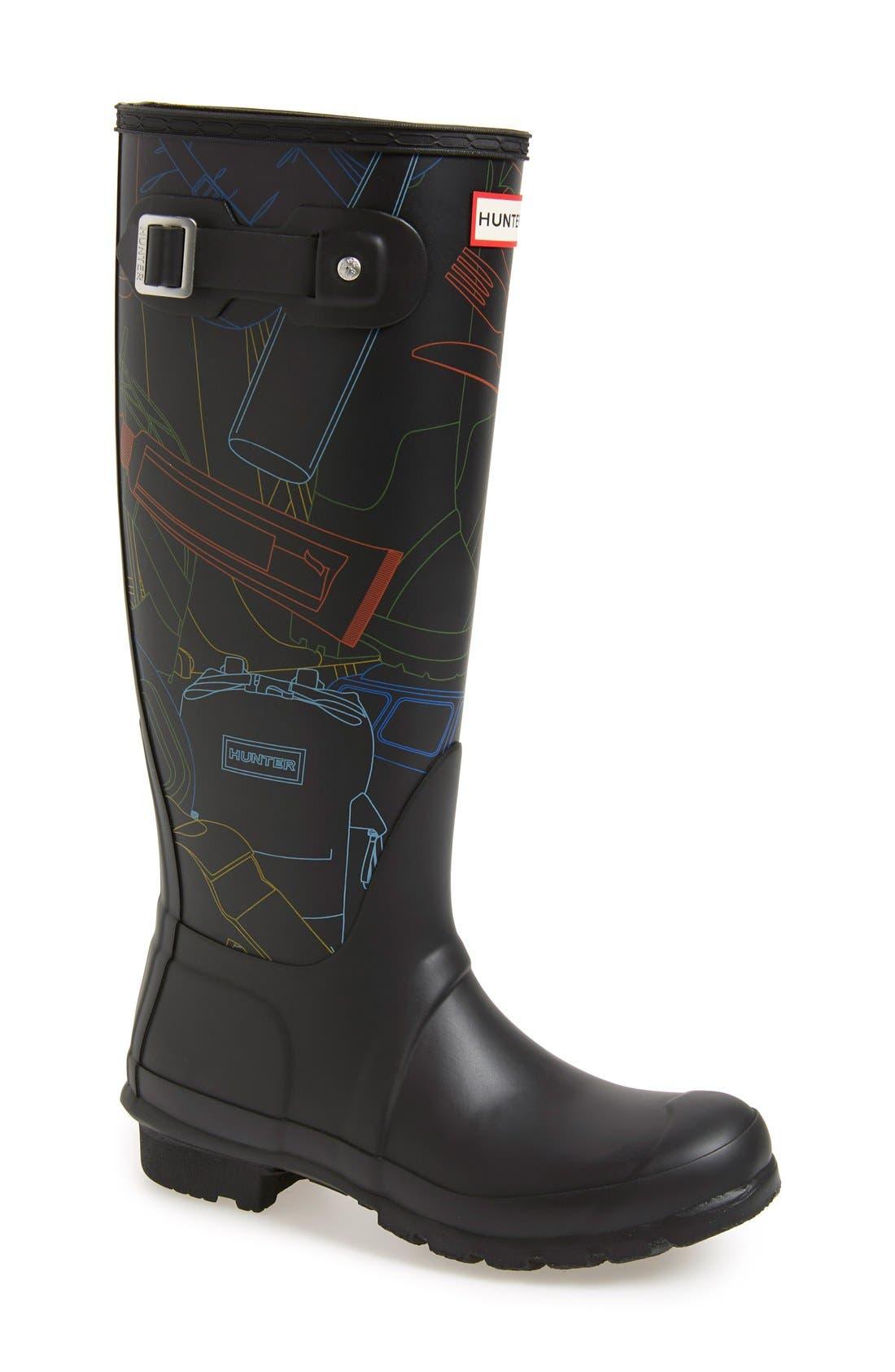 Main Image - Hunter 'Original Tall - Festival Print' Rain Boot (Women)
