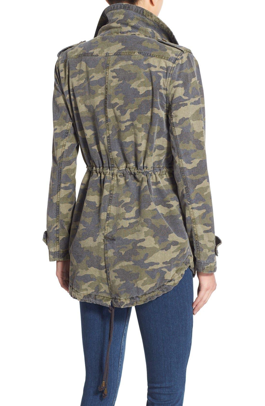 Alternate Image 2  - Velvet by Graham & Spencer 'Army' Cotton Jacket