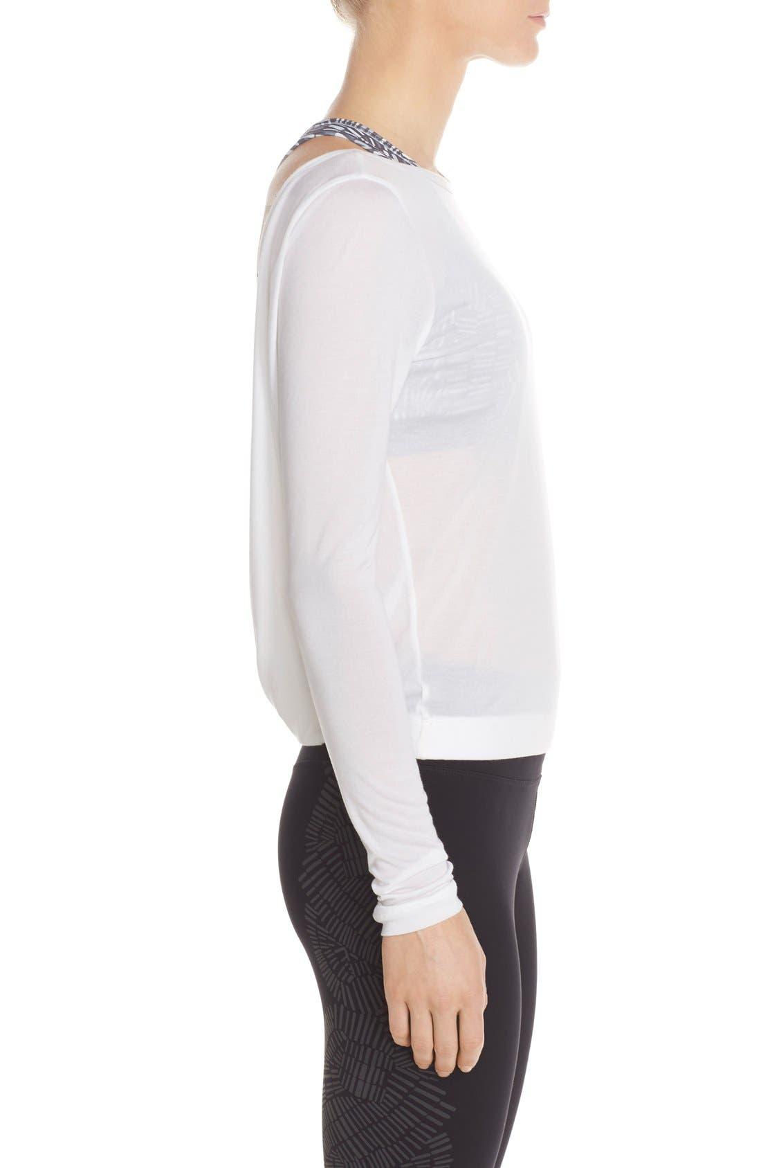 Alternate Image 3  - Nike Dri-FIT Drape Neck Top