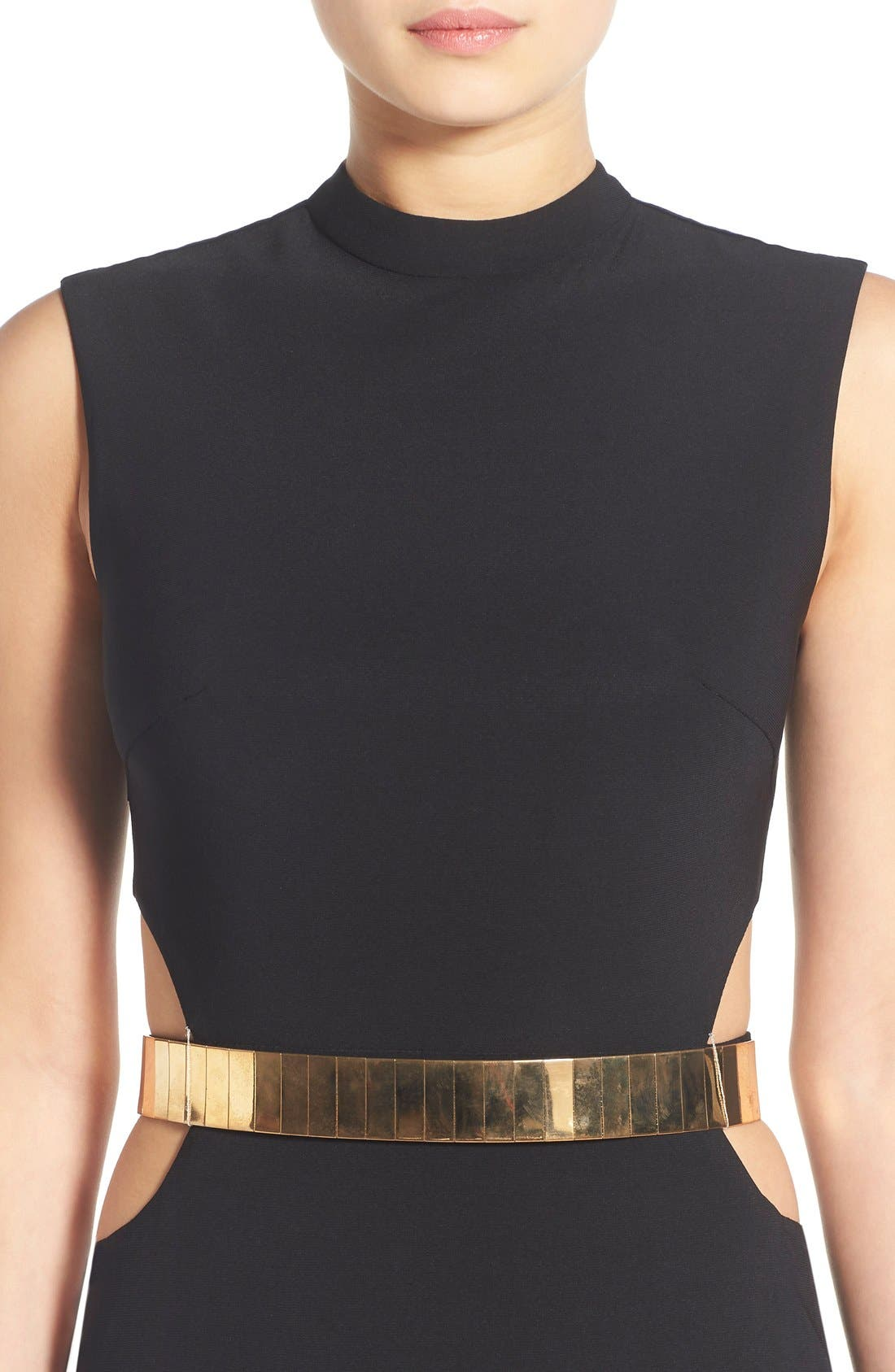 Alternate Image 4  - Mac Duggal Belted Side Cutout Gown