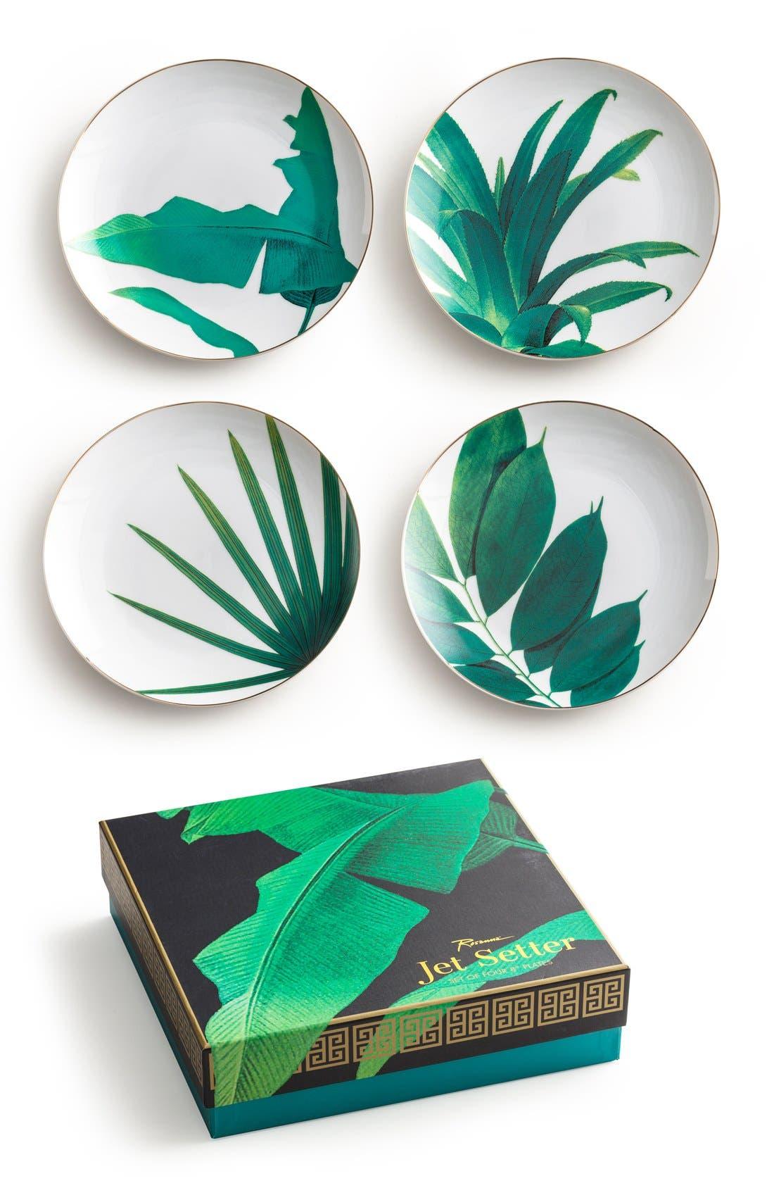Alternate Image 1 Selected - Rosanna Botanical Salad Plates (Set of 4)