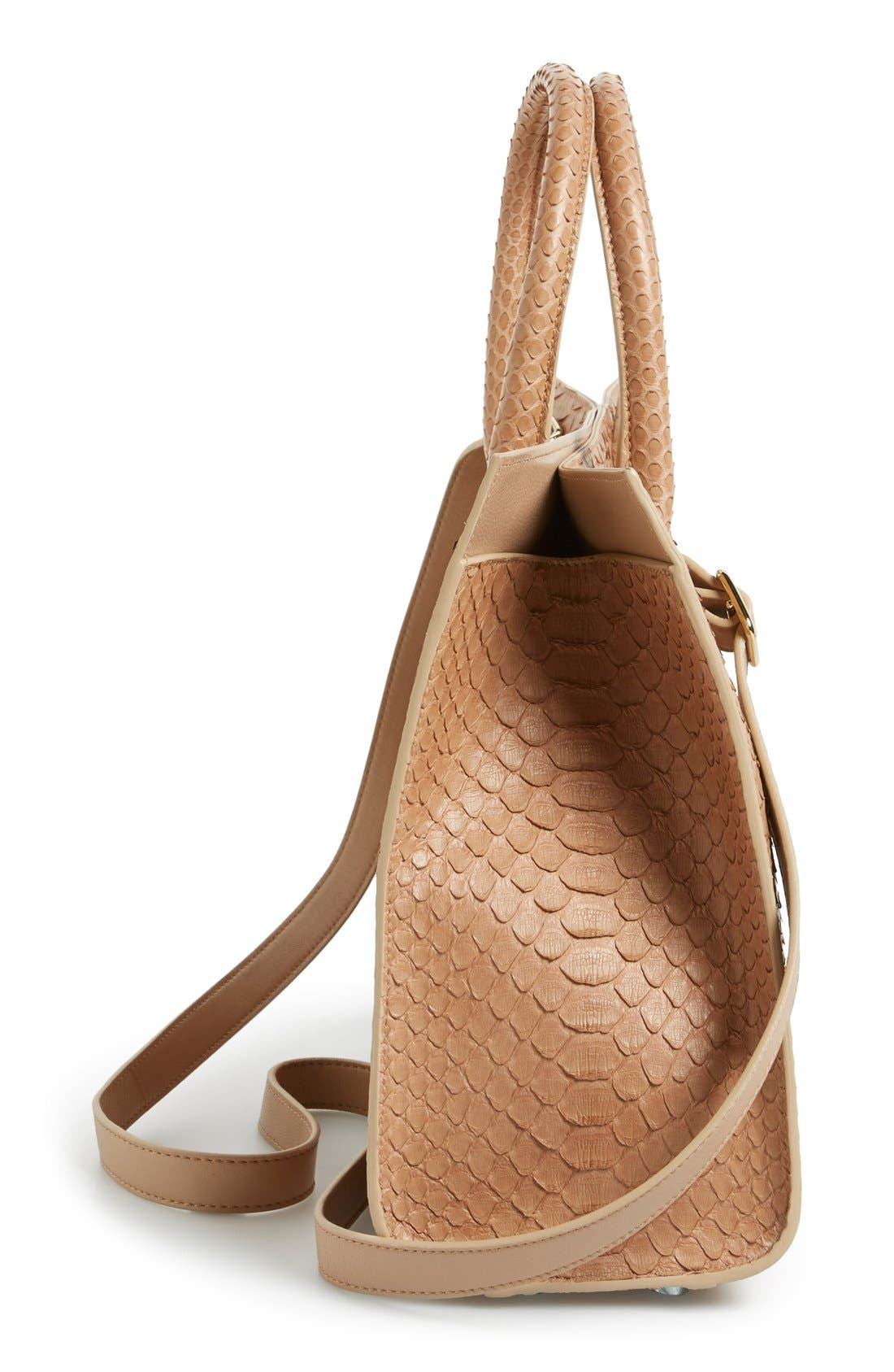 Alternate Image 5  - Jimmy Choo 'Riley' Genuine Python Tote