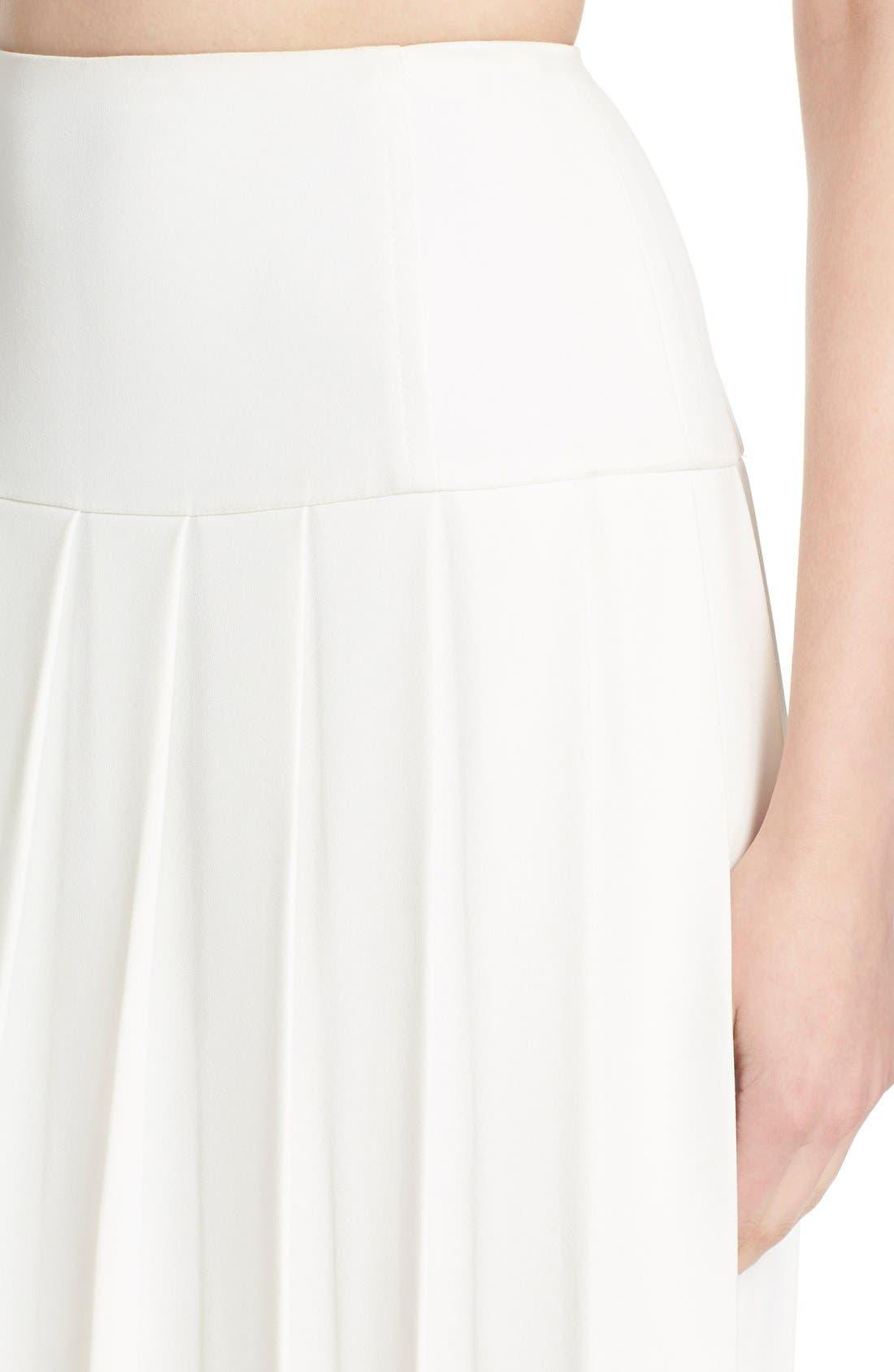 Alternate Image 4  - Alice + Olivia 'Joann' Pleated Midi Skirt