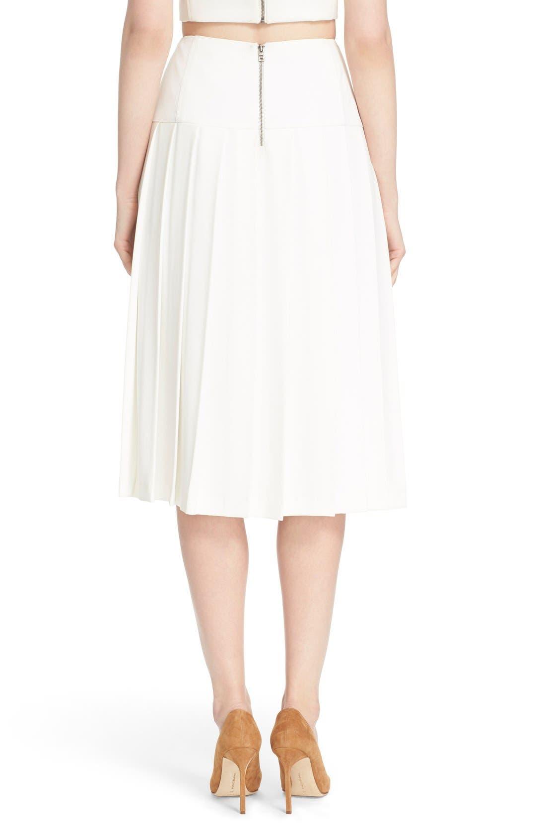 Alternate Image 2  - Alice + Olivia 'Joann' Pleated Midi Skirt