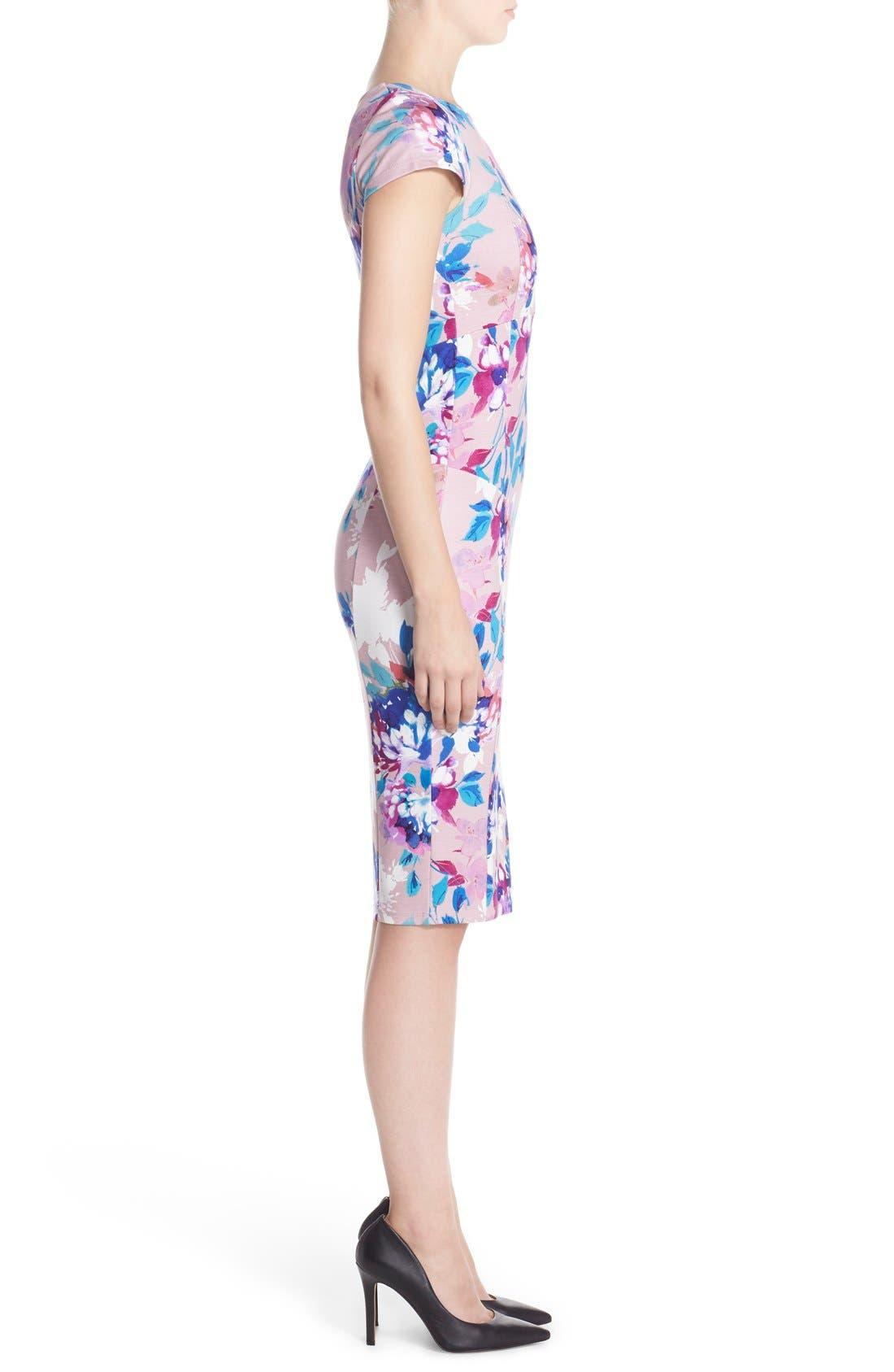 Alternate Image 3  - Felicity & Coco Floral Ponte Sheath Dress (Regular & Petite) (Nordstrom Exclusive)