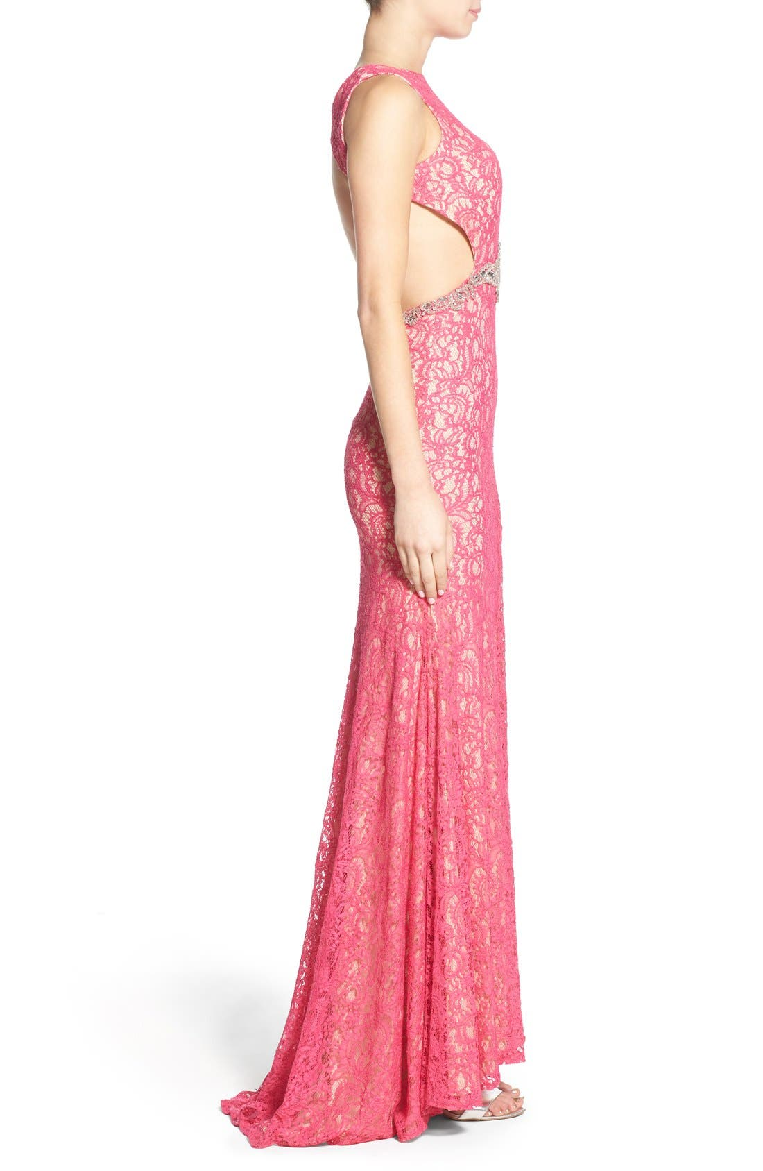 Alternate Image 3  - Mac Duggal Lace Cutout Gown