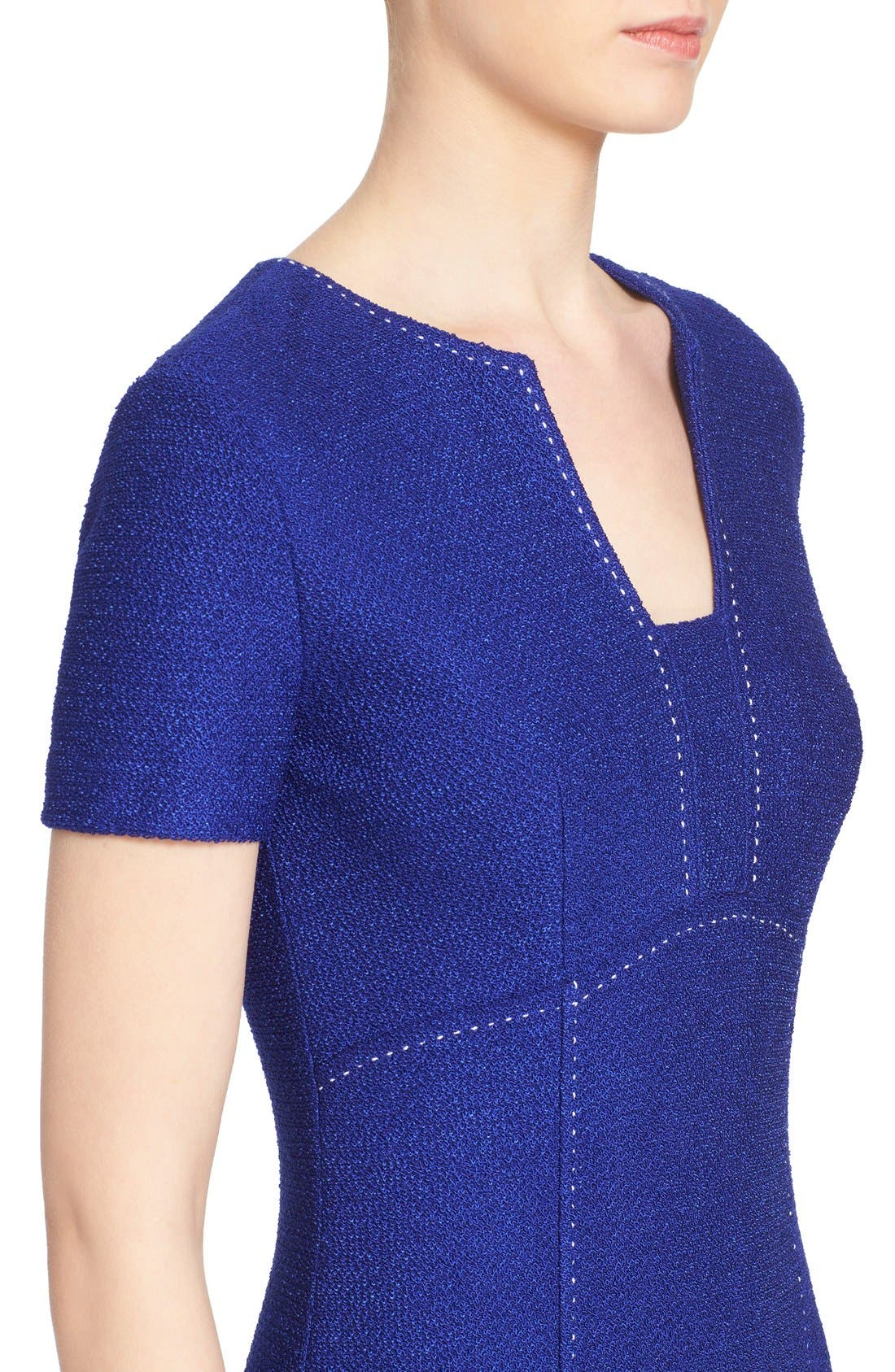 Alternate Image 6  - St. John Collection 'Newport' Knit Sheath Dress