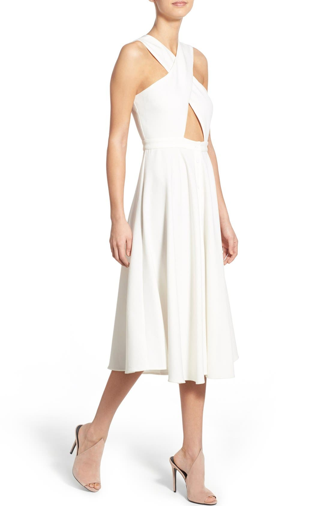 Alternate Image 4  - KENDALL + KYLIE Crossover Bodice Midi Dress