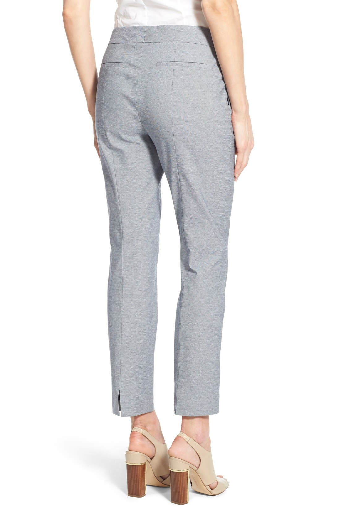 Alternate Image 3  - Nordstrom Collection Stretch Cotton Slim Ankle Pants