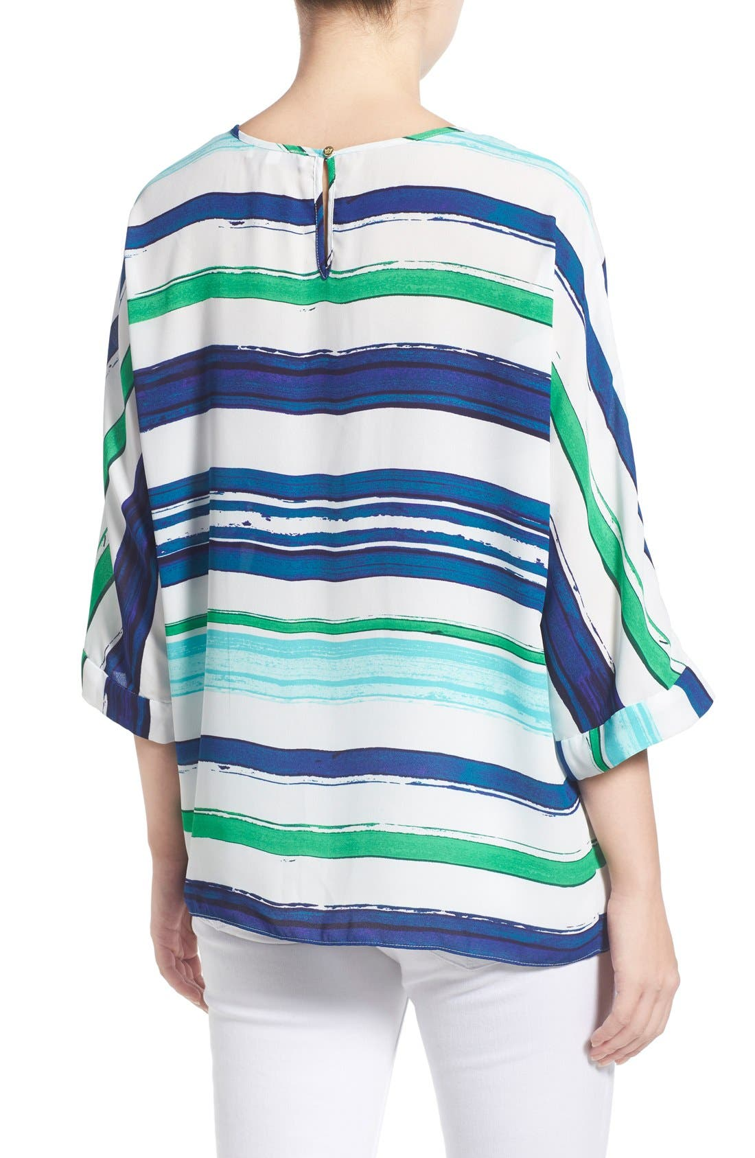 Alternate Image 2  - Chaus Stripe High/Low Blouse