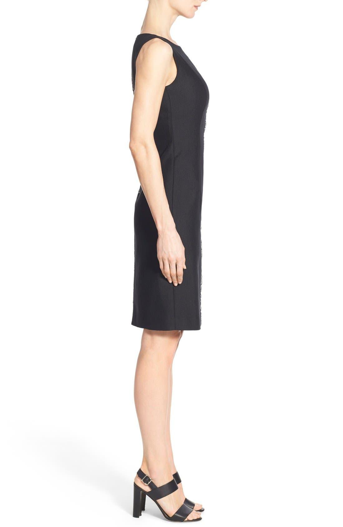 Alternate Image 3  - Lafayette 148 New York 'Faith' Print Block Sheath Dress (Regular & Petite)