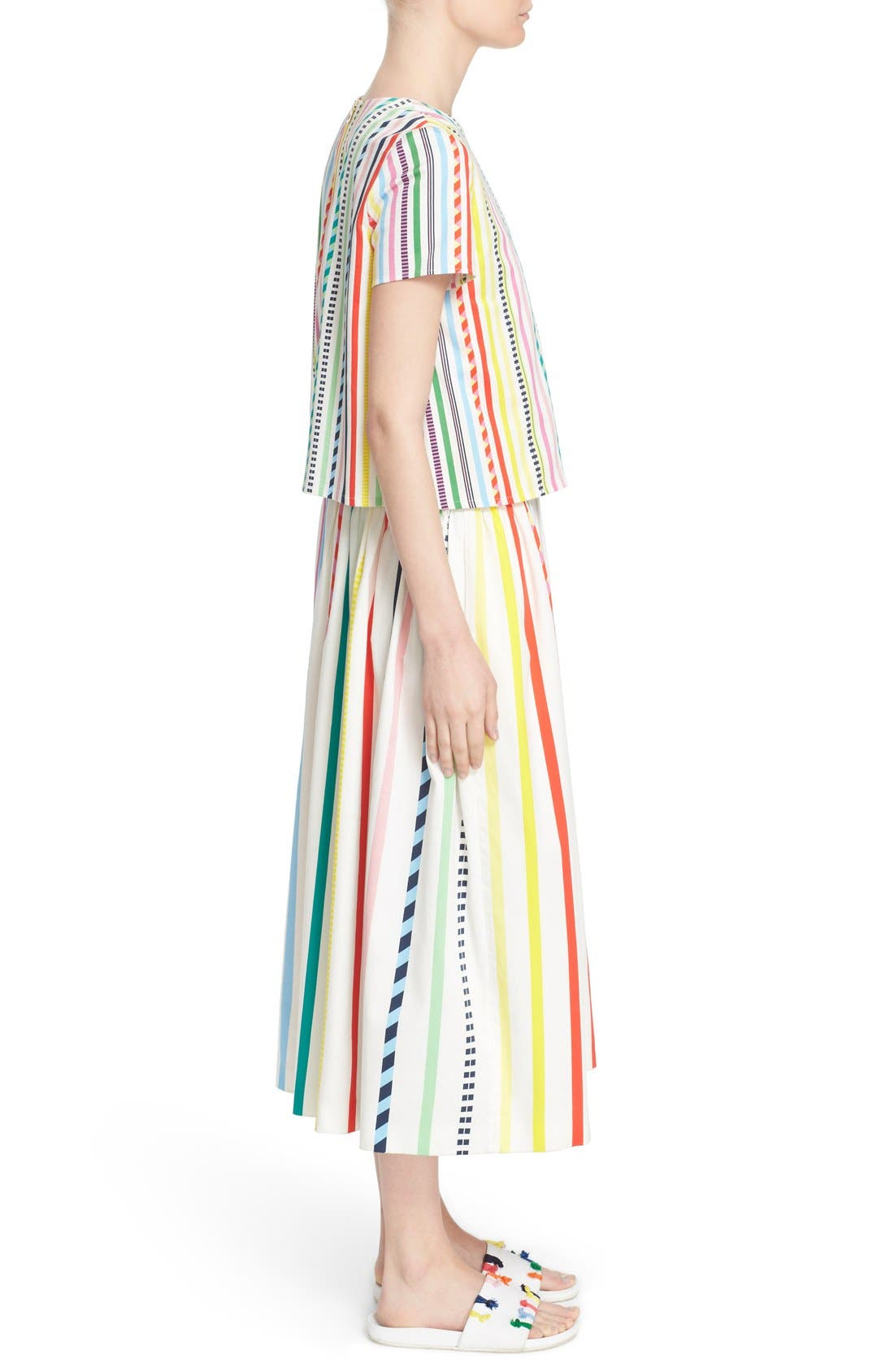 Alternate Image 5  - Mira Mikati Candy Stripe Print Popover Dress