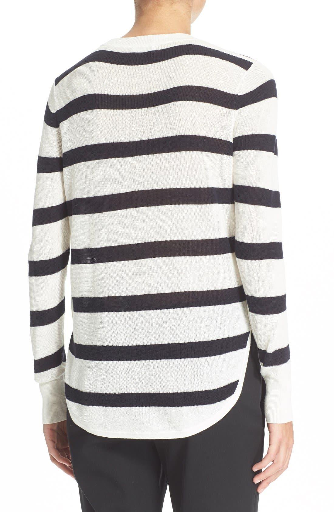 Alternate Image 2  - A.L.C. 'Riley' Stripe Cotton Sweater