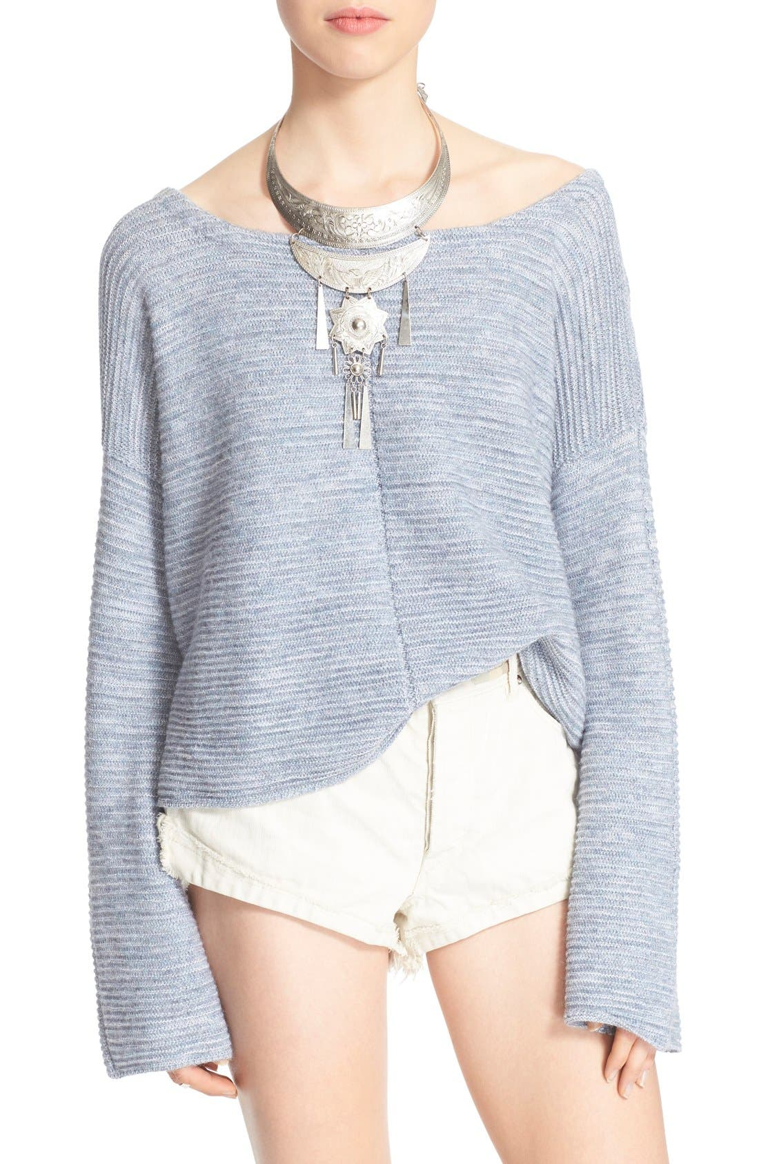 Main Image - Free People 'Ever Cozy' Alpaca & Cotton Pullover
