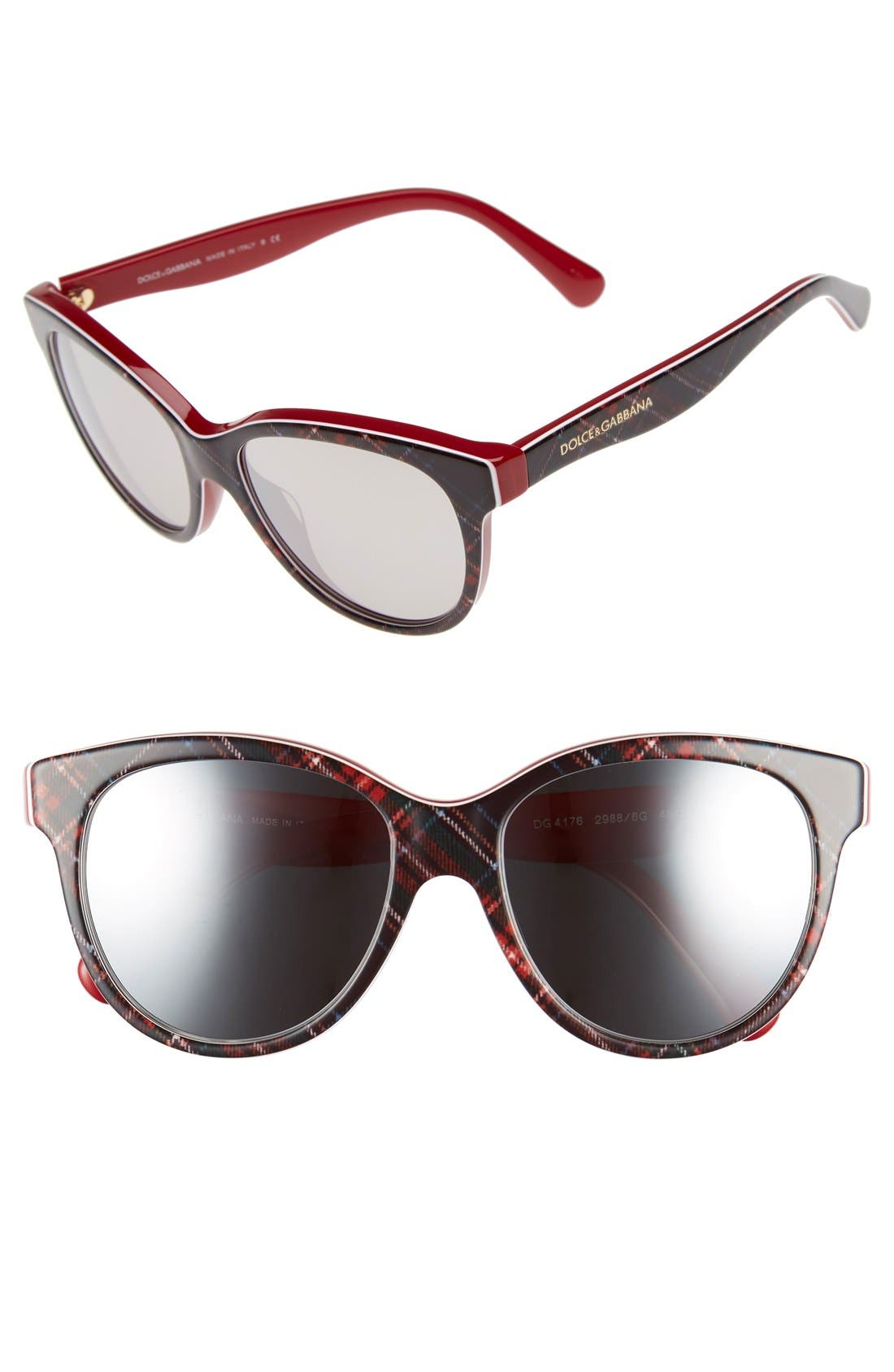 DOLCE&GABBANA 49mm Retro Sunglasses