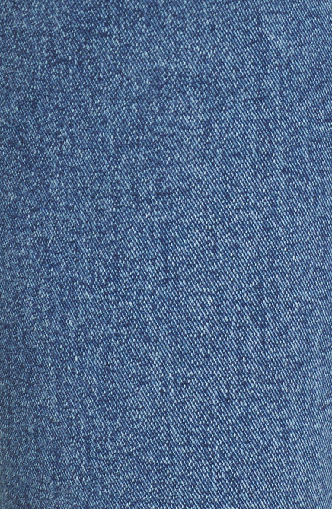 Alternate Image 5  - Rolla's 'East Coast' High Rise Ankle Skinny Jeans (Folk Blue)