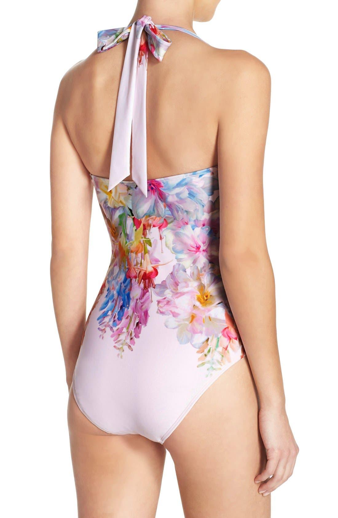 Alternate Image 2  - Ted Baker London Layaya Convertible One-Piece Swimsuit