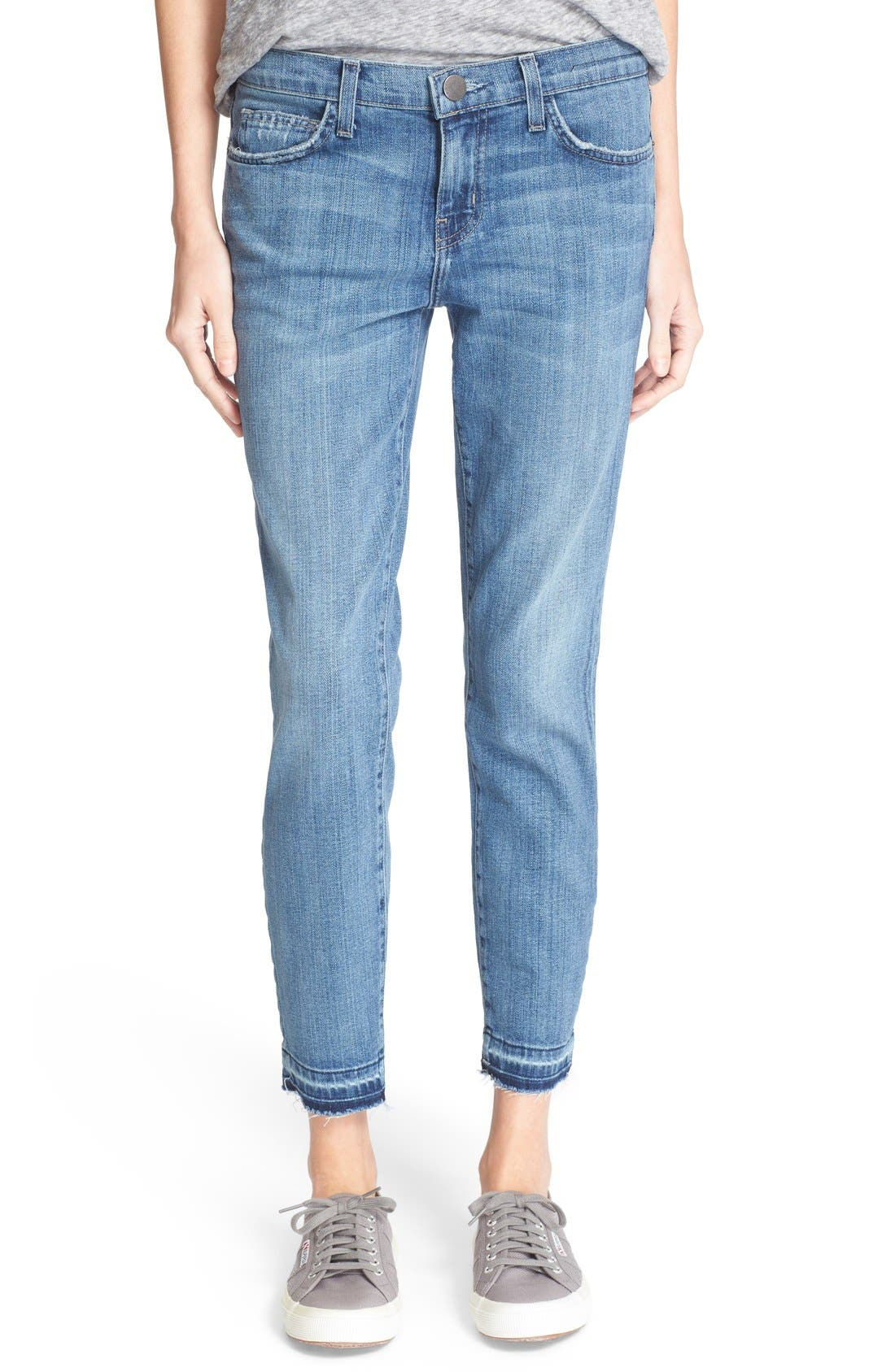 Main Image - Current/Elliott 'The Stiletto' Stretch Jeans (Amour Released Hem)