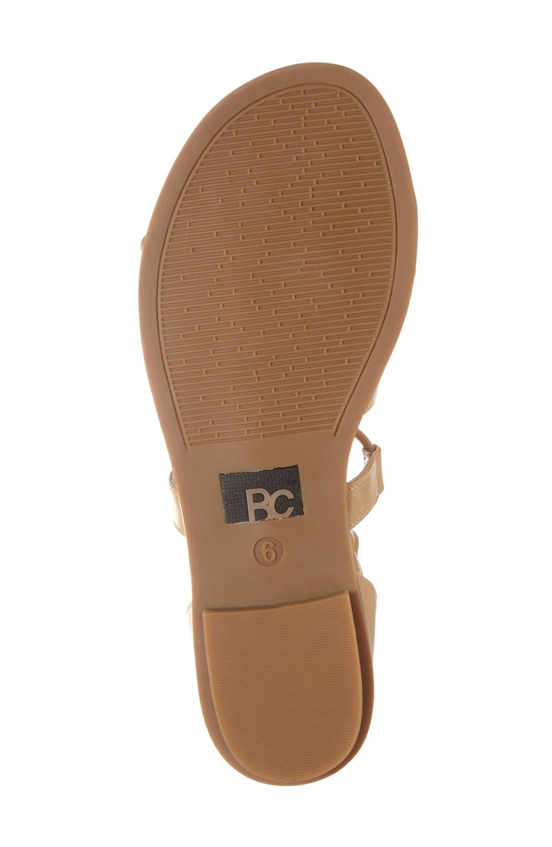 Alternate Image 4  - BC Footwear 'Pocket Size' Lace-Up Flat Sandal (Women)