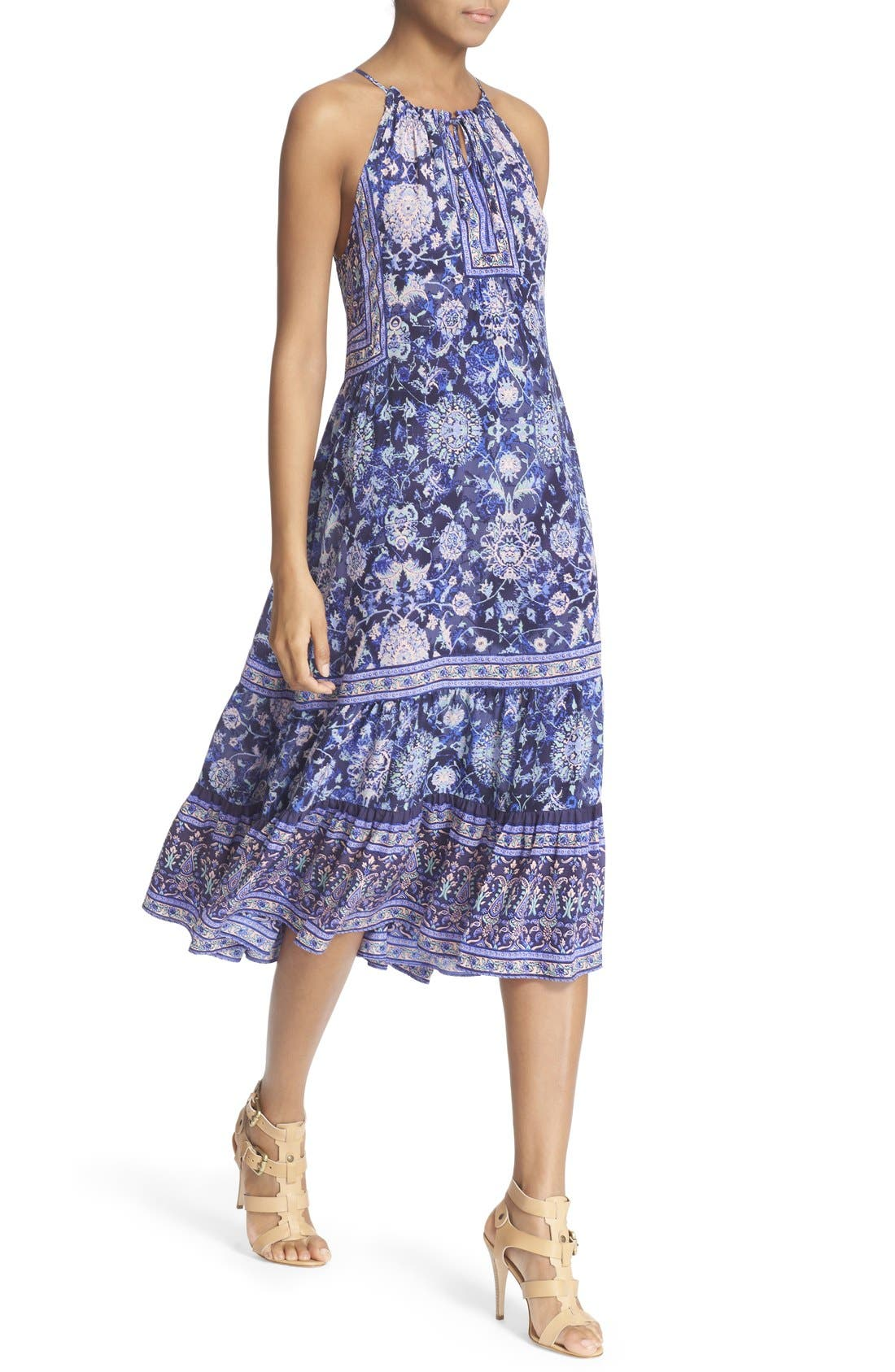 Alternate Image 4  - Rebecca Taylor 'Dreamweaver' Print Silk Midi Dress