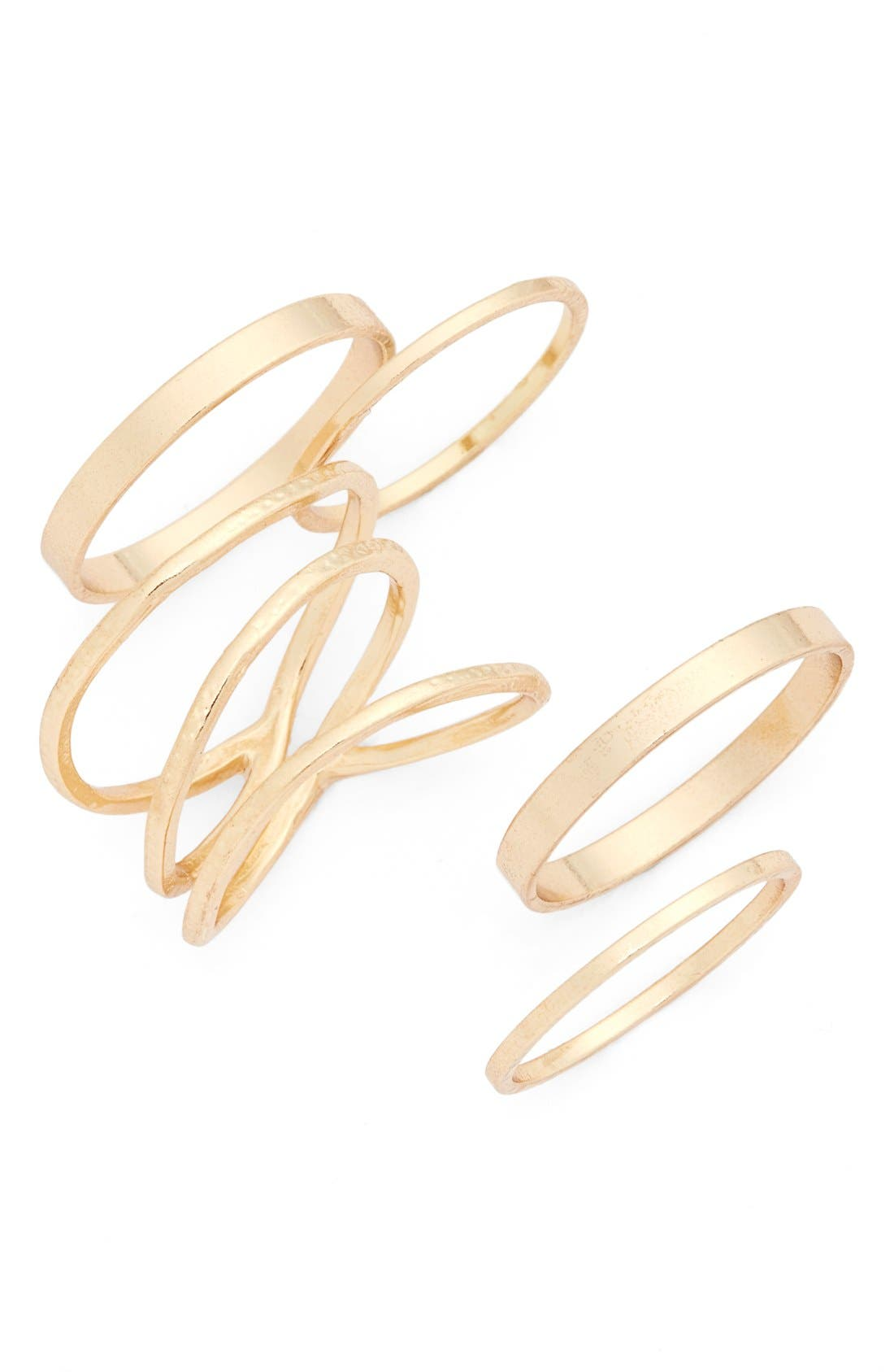Main Image - BP. Stackable Rings (Set of 5)