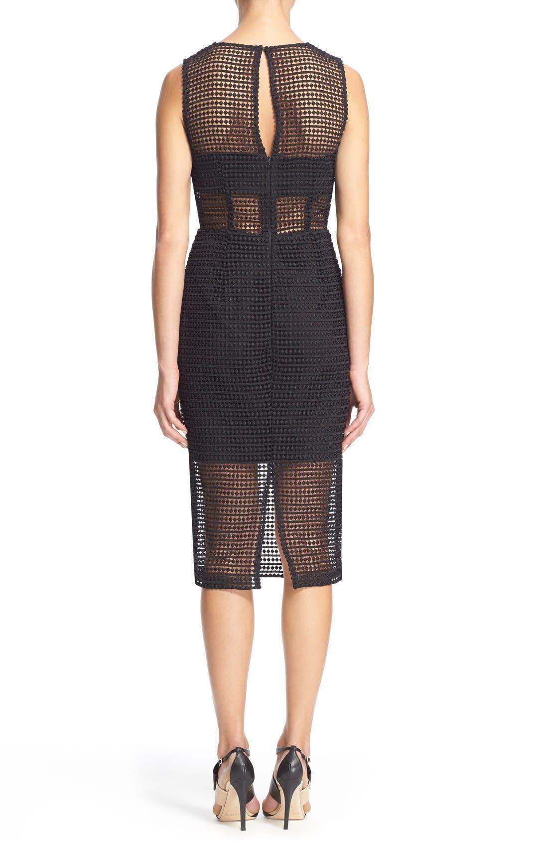 Alternate Image 2  - NICHOLAS Dot Lace Sheath Dress