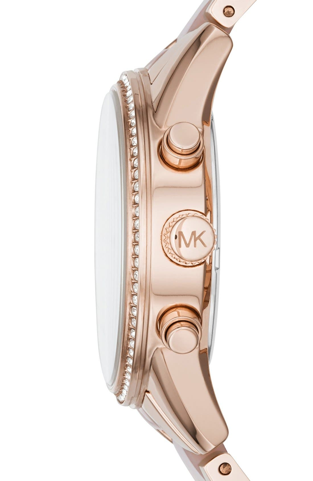 Alternate Image 2  - Michael Kors 'Ritz' Chronograph Bracelet Watch, 37mm