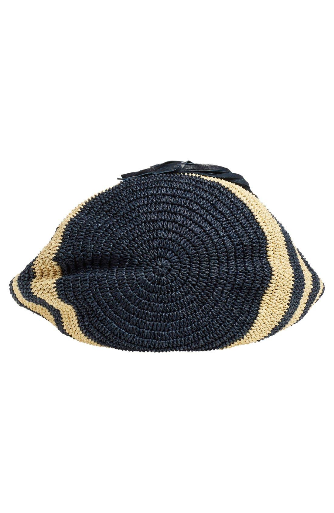 Alternate Image 6  - Caslon® Stripe Crochet Straw Shoulder Bag