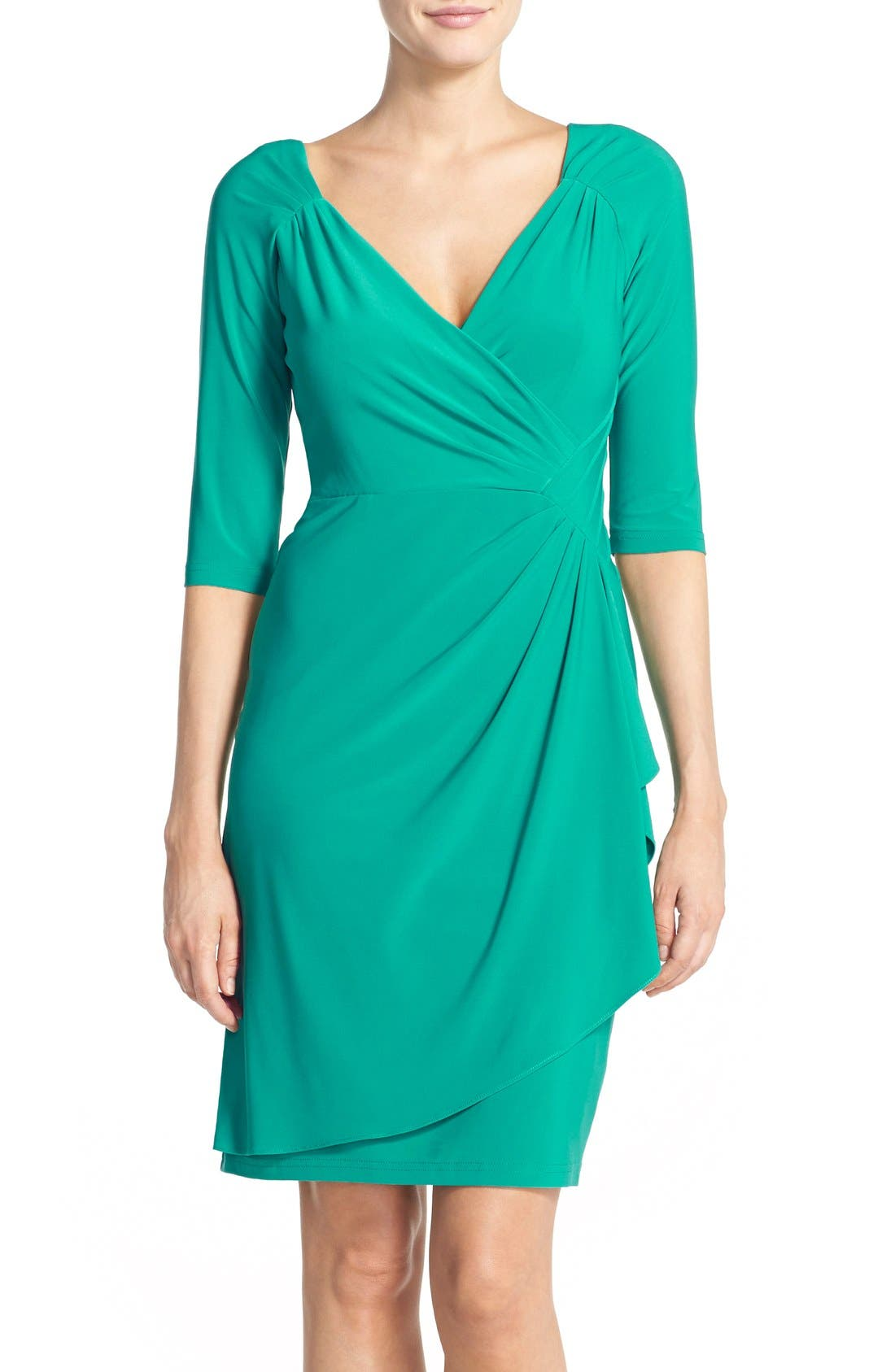 Alternate Image 1 Selected - Adrianna Papell Jersey Faux Wrap Dress