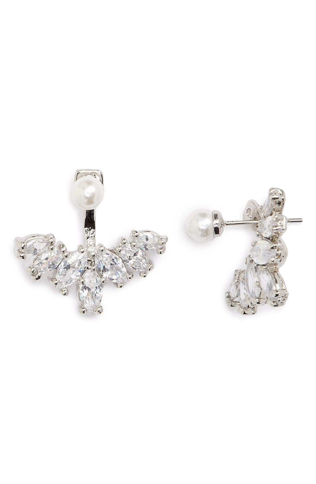 Alternate Image 1 Selected - Cara Faux Pearl & Crystal Ear Jackets