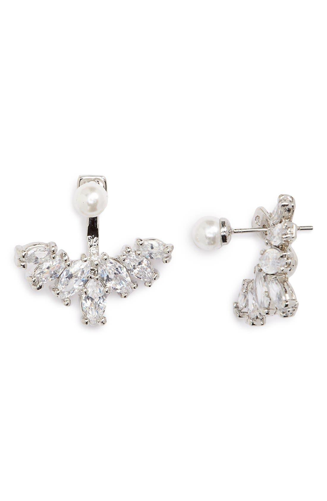 Main Image - Cara Faux Pearl & Crystal Ear Jackets