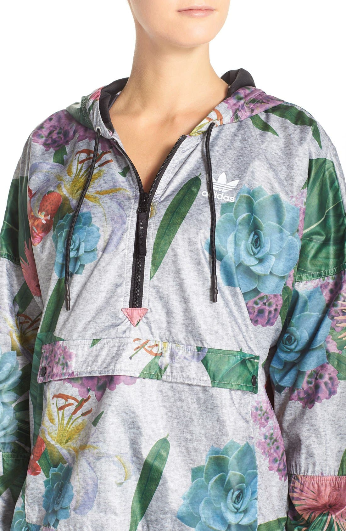 Alternate Image 4  - adidas Originals 'Training' Floral Windbreaker Jacket