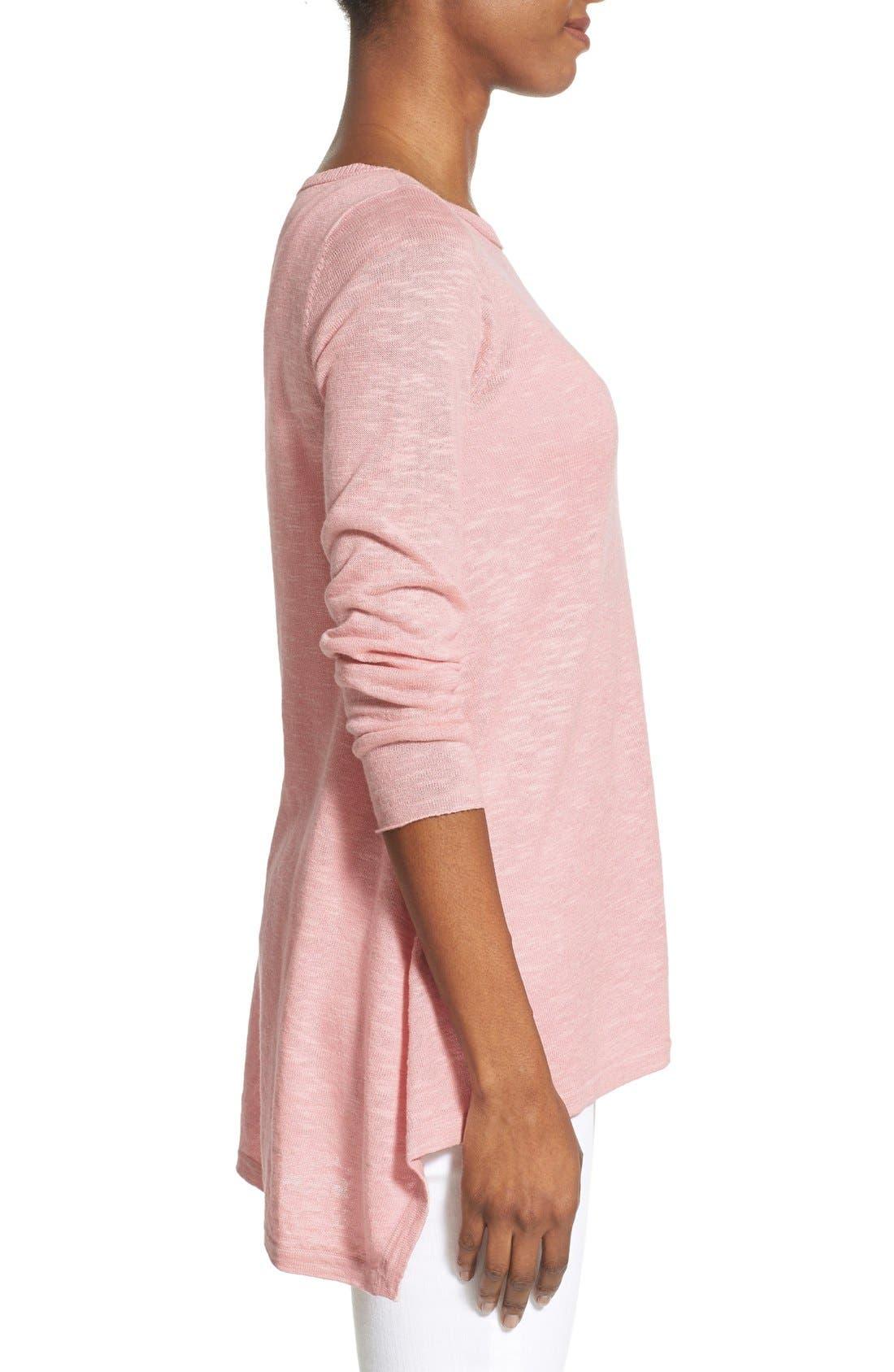 Alternate Image 3  - Eileen Fisher Organic Linen & Cotton Bateau Neck Sweater (Regular & Petite)