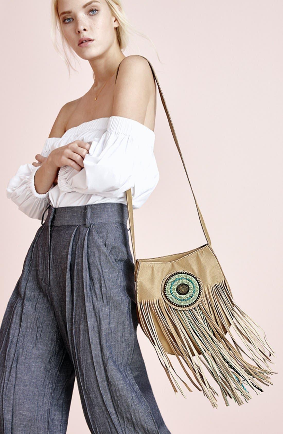 Alternate Image 9  - Sam Edelman 'Karina' Fringe Leather Shoulder Bag